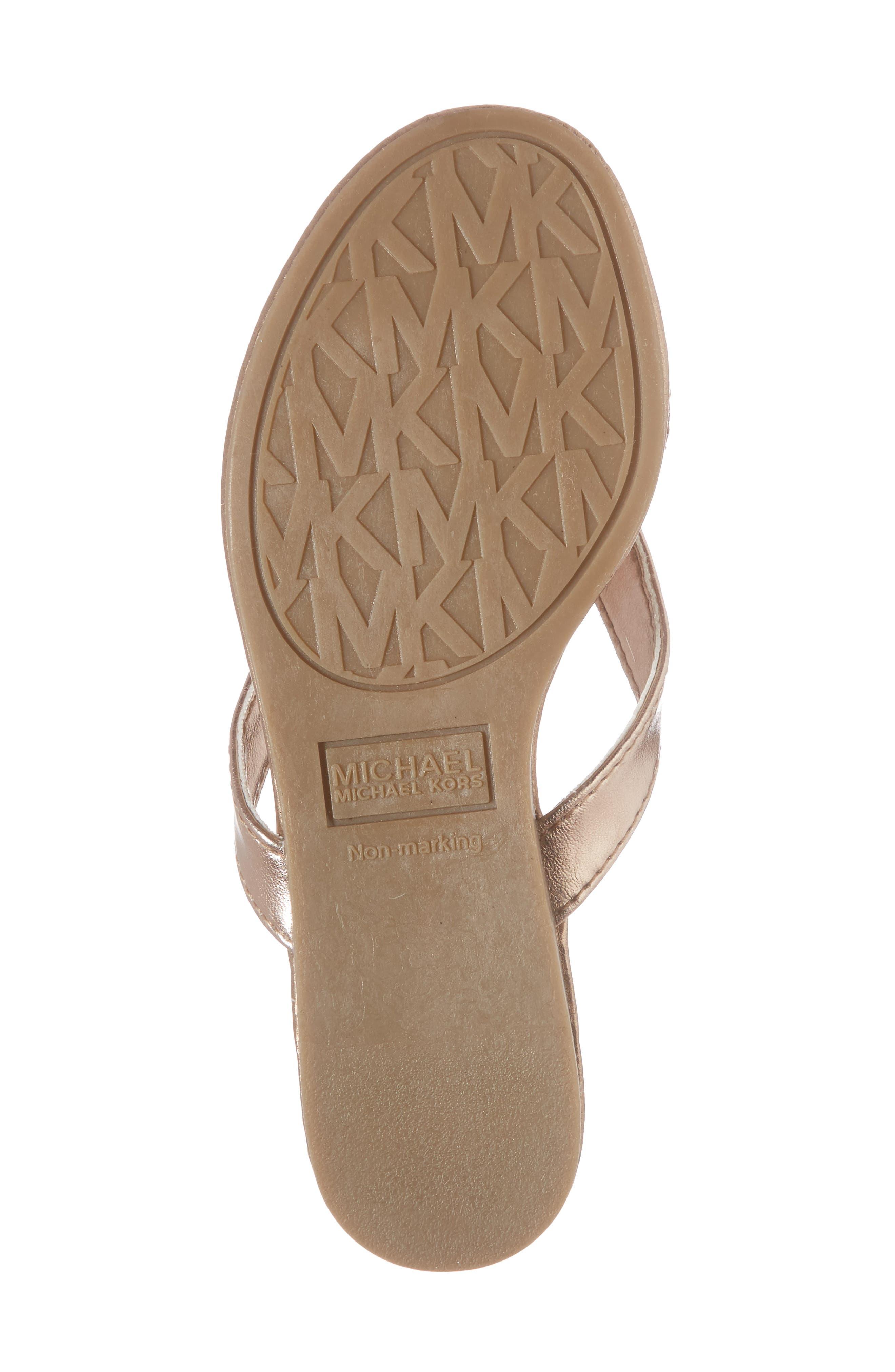 Embellished Bow Flip Flop,                             Alternate thumbnail 6, color,                             Rose Gold