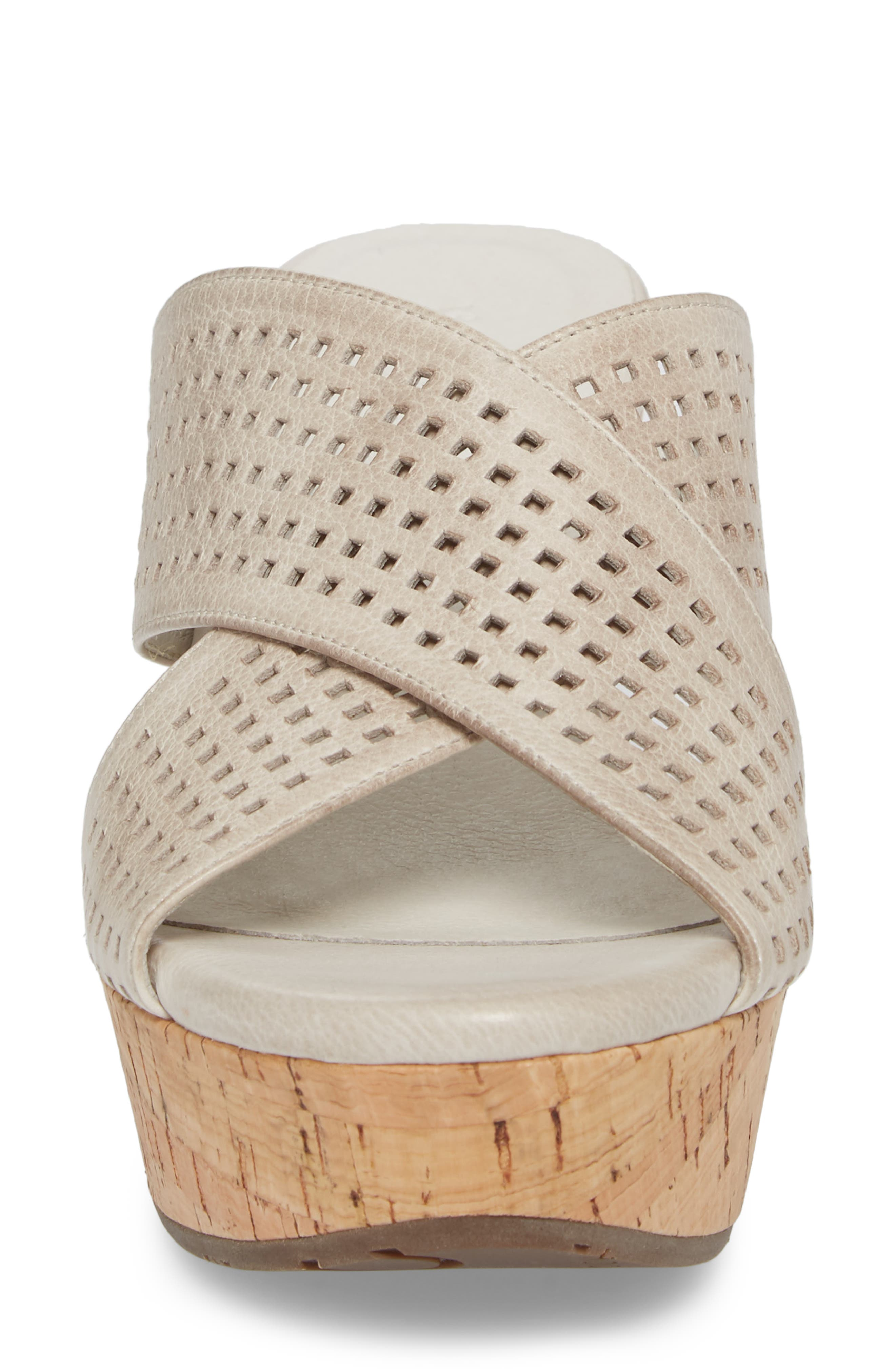 Wamblee Wedge Sandal,                             Alternate thumbnail 4, color,                             Ice Leather