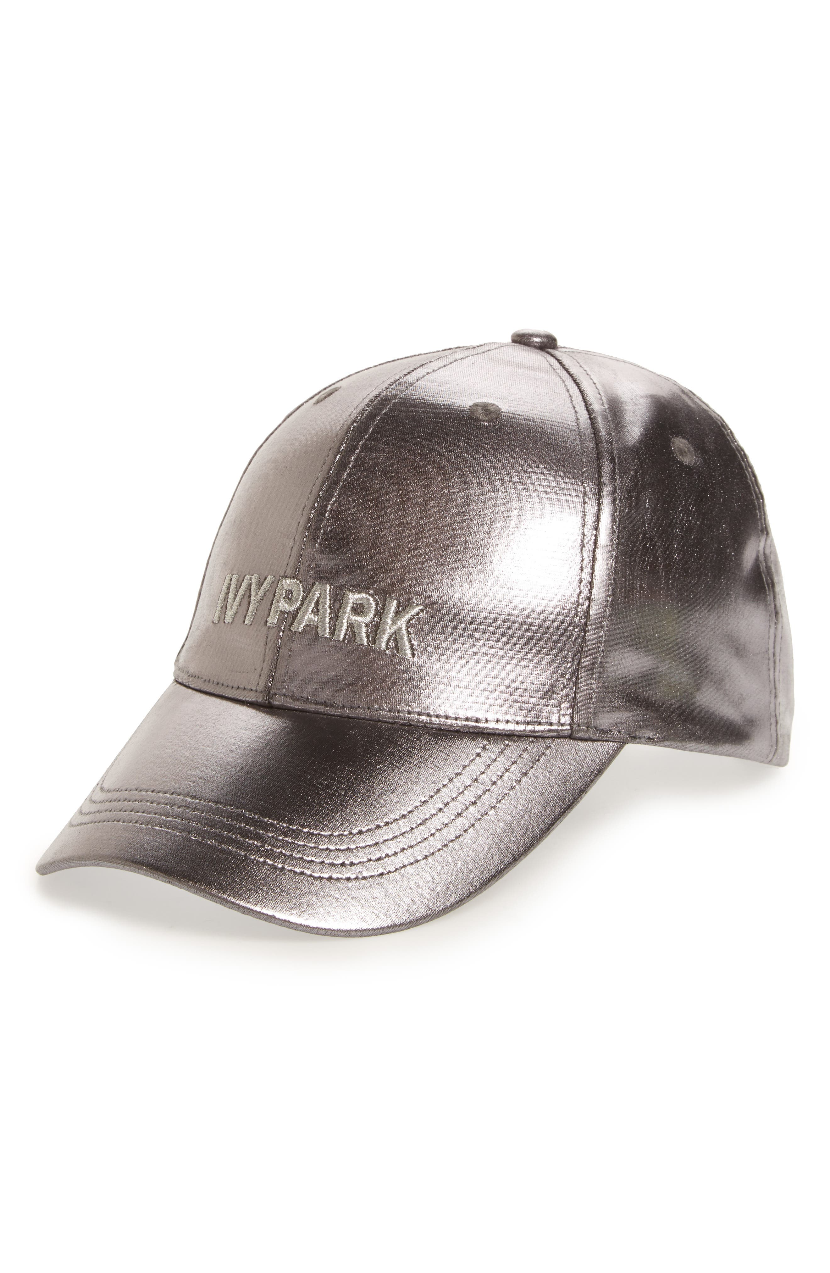 Adjustable Metallic Baseball Cap,                         Main,                         color, Metallic