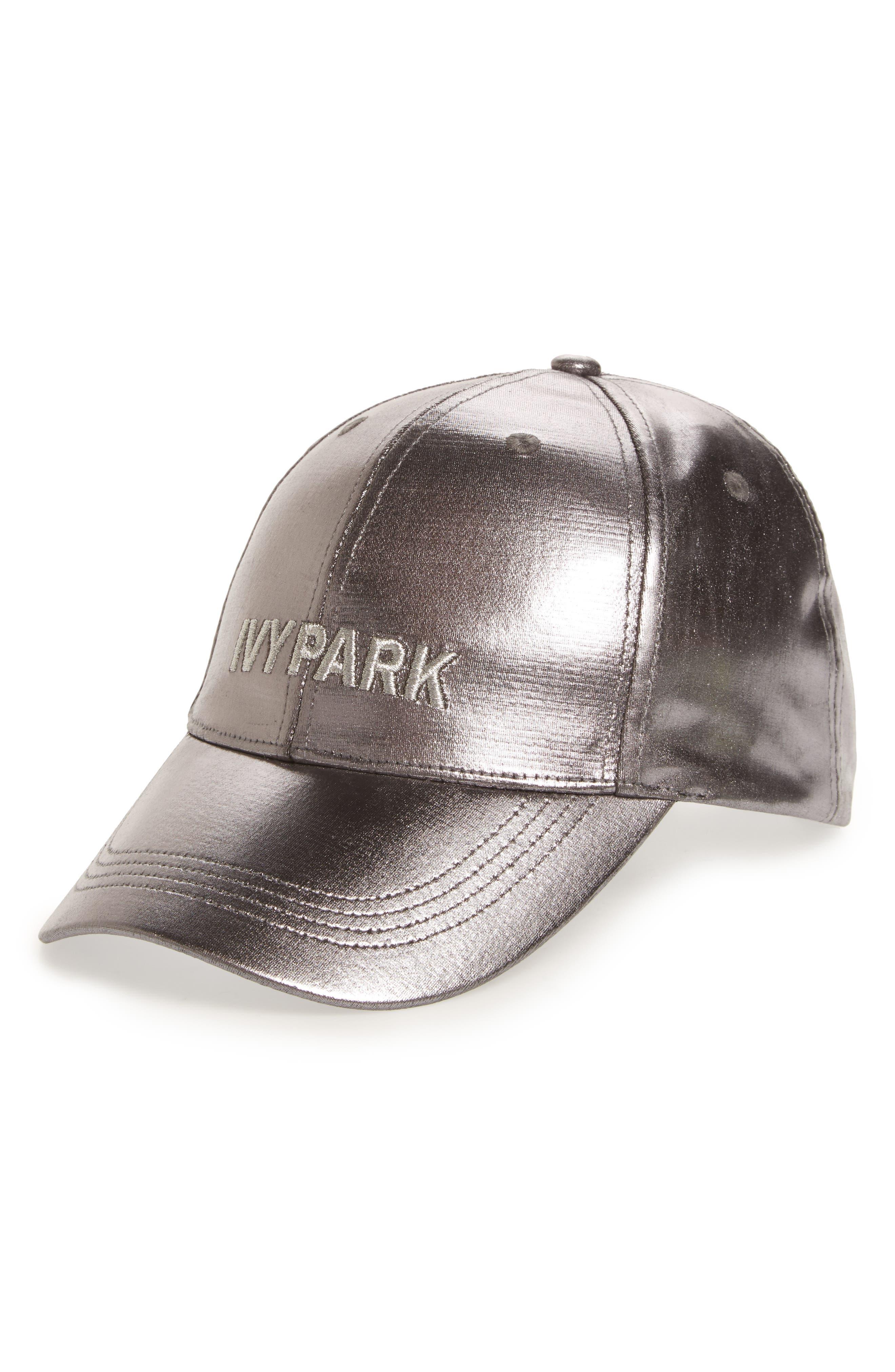 IVY PARK® Adjustable Metallic Baseball Cap