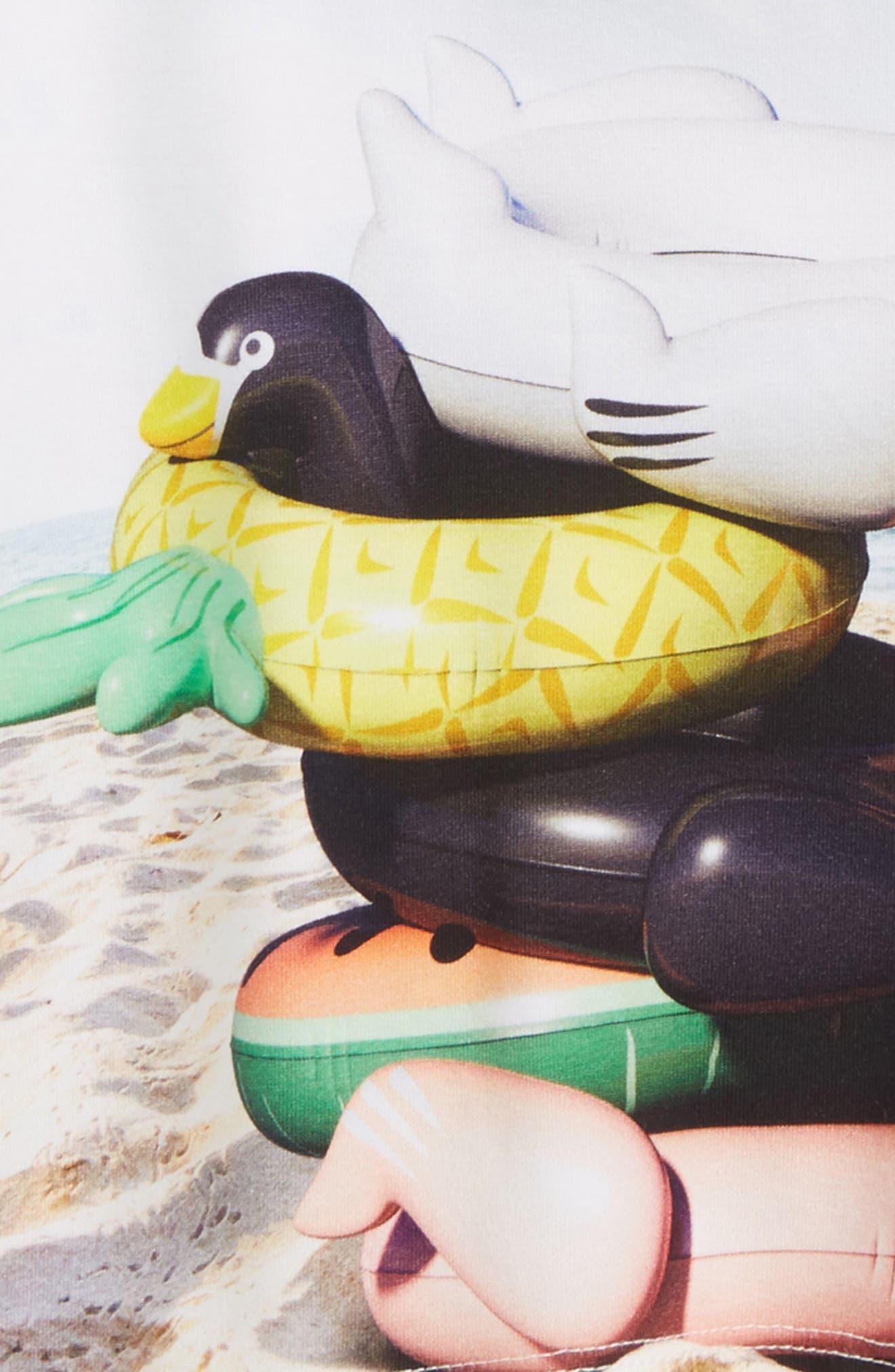 Raeesa Pool Float Tee,                             Alternate thumbnail 2, color,                             Beach Animals