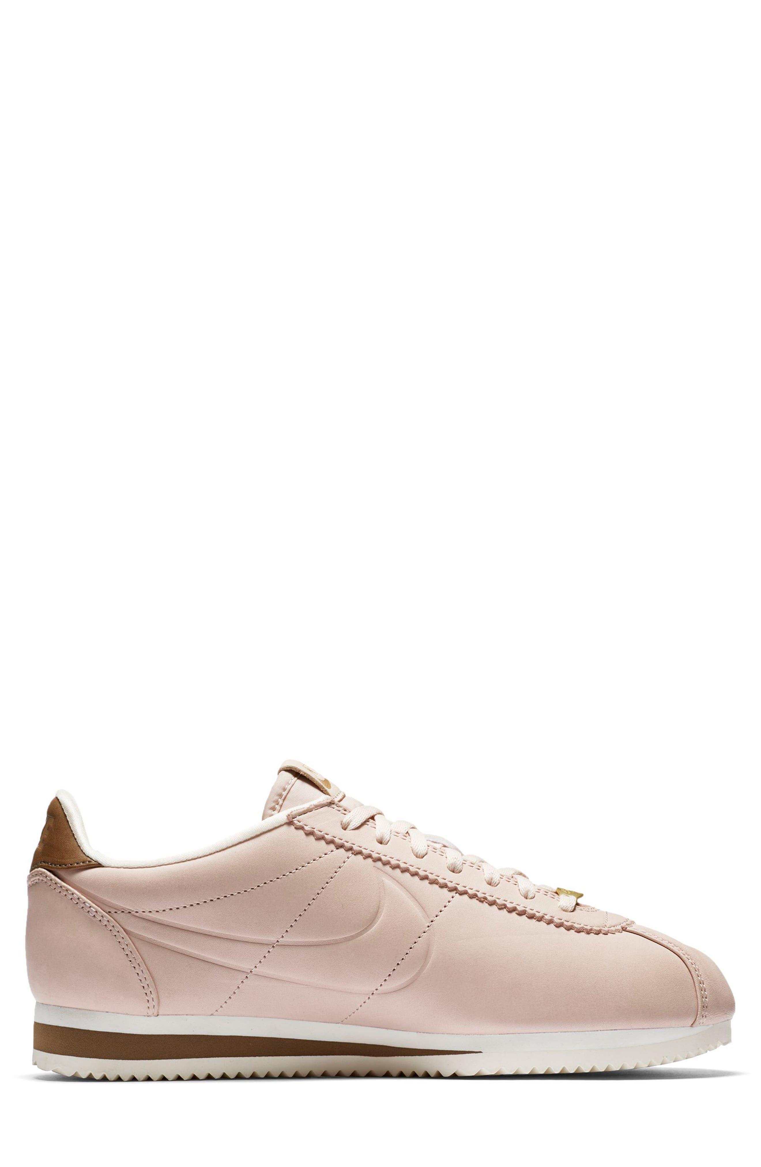 x Maria Sharapova LA Cortez Premium Sneaker,                             Alternate thumbnail 3, color,                             Particle Beige/Particle Beige