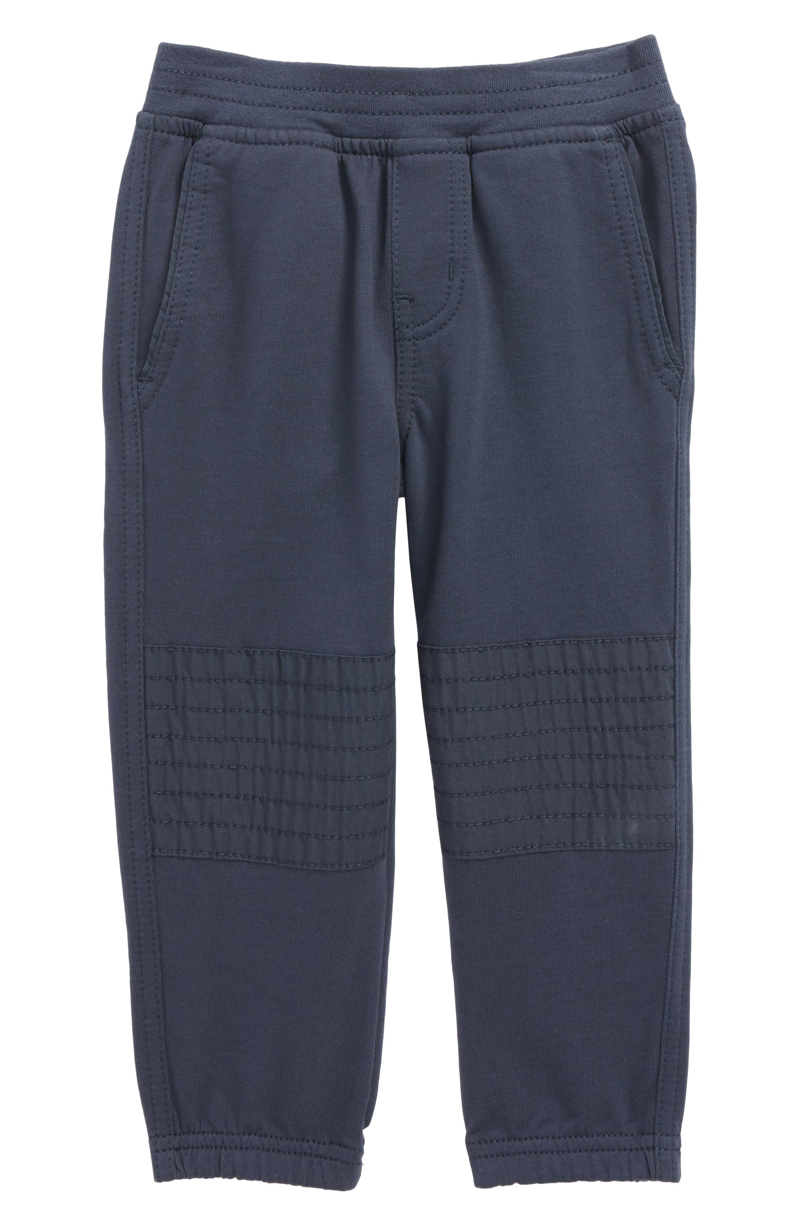 French Terry Moto Pants,                         Main,                         color, Indigo
