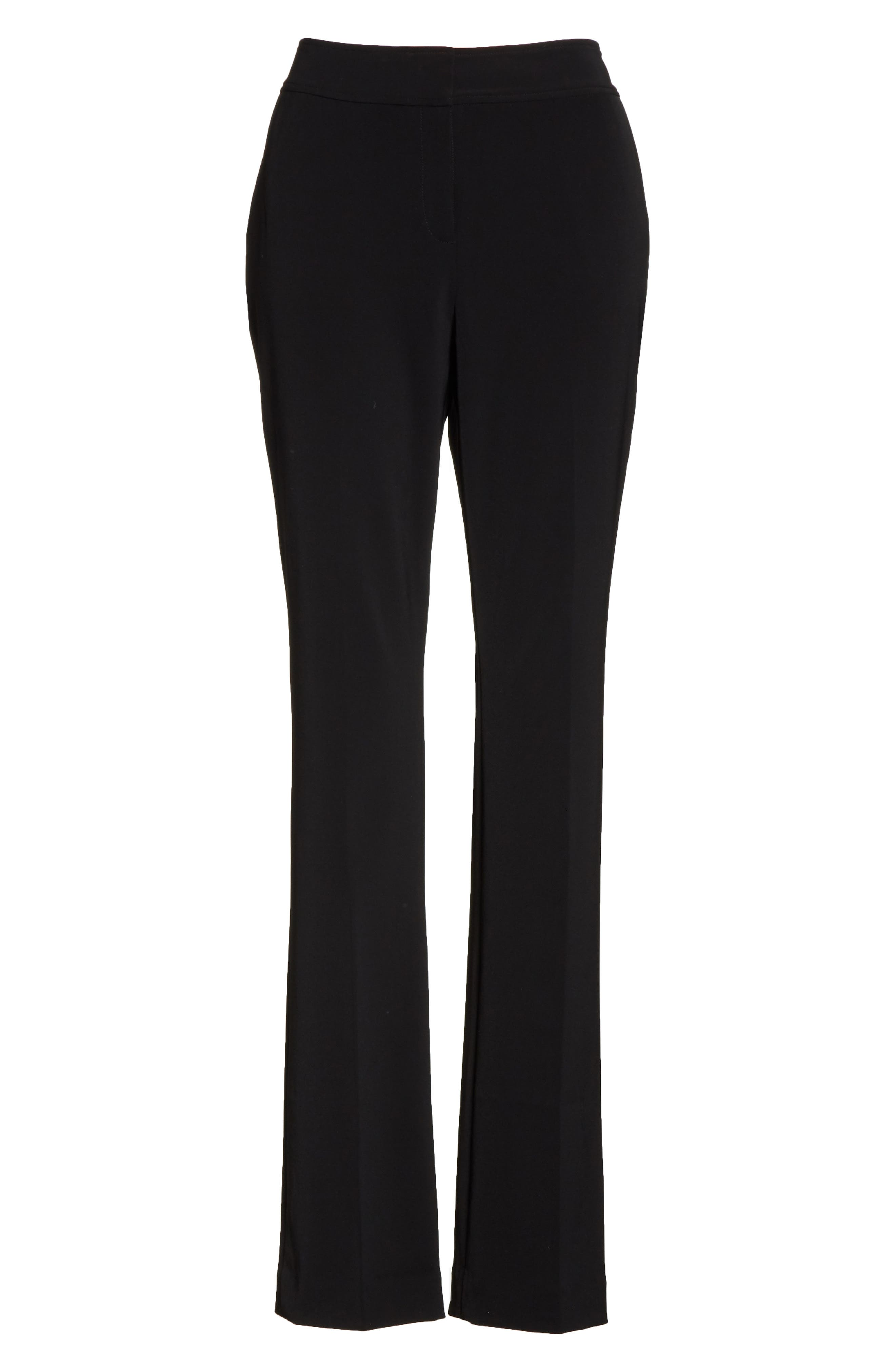Yulit High Waist Trousers,                             Alternate thumbnail 6, color,                             Black