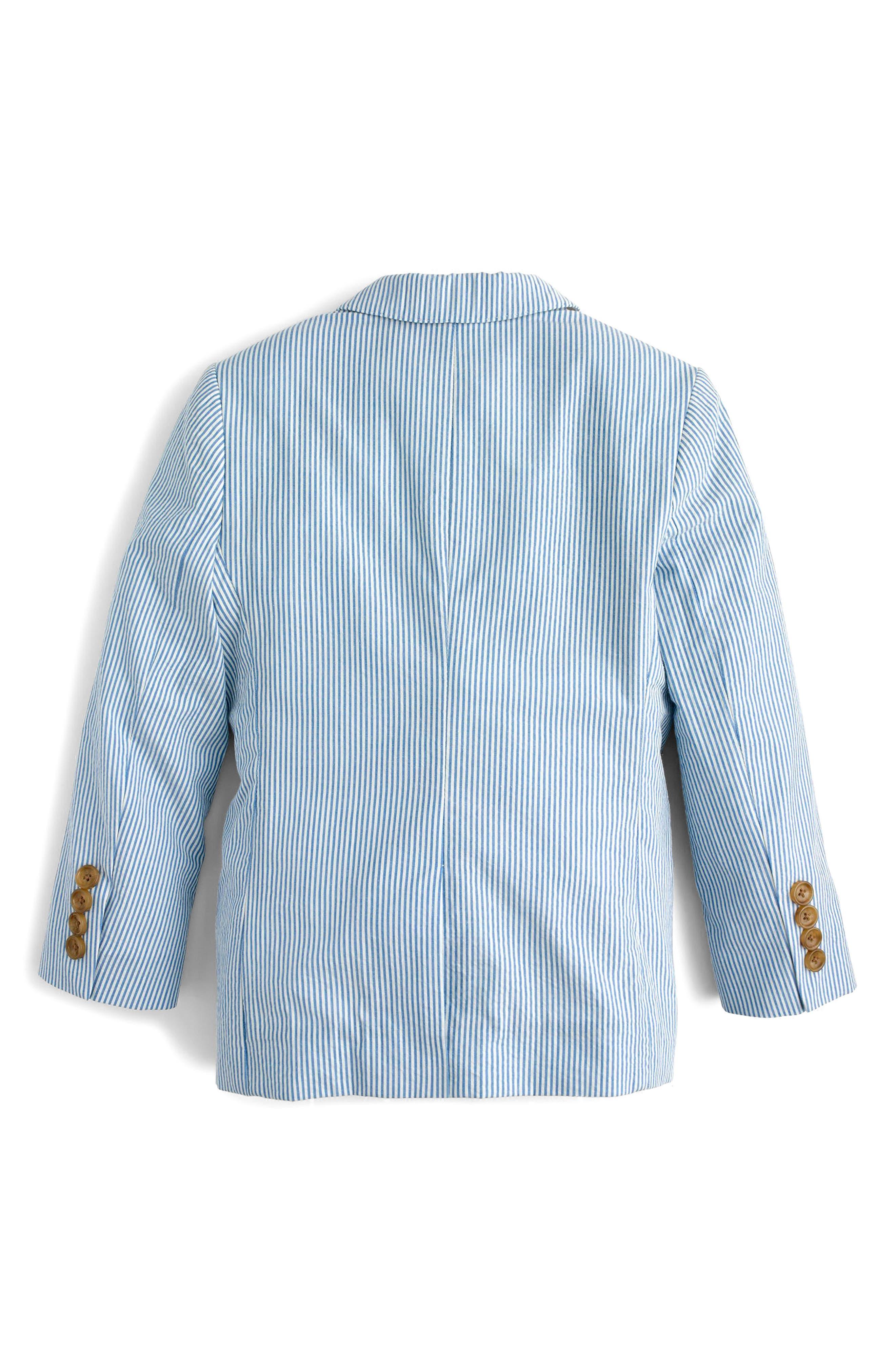 Ludlow Seersucker Suit Jacket,                             Alternate thumbnail 2, color,                             Crisp Azure White