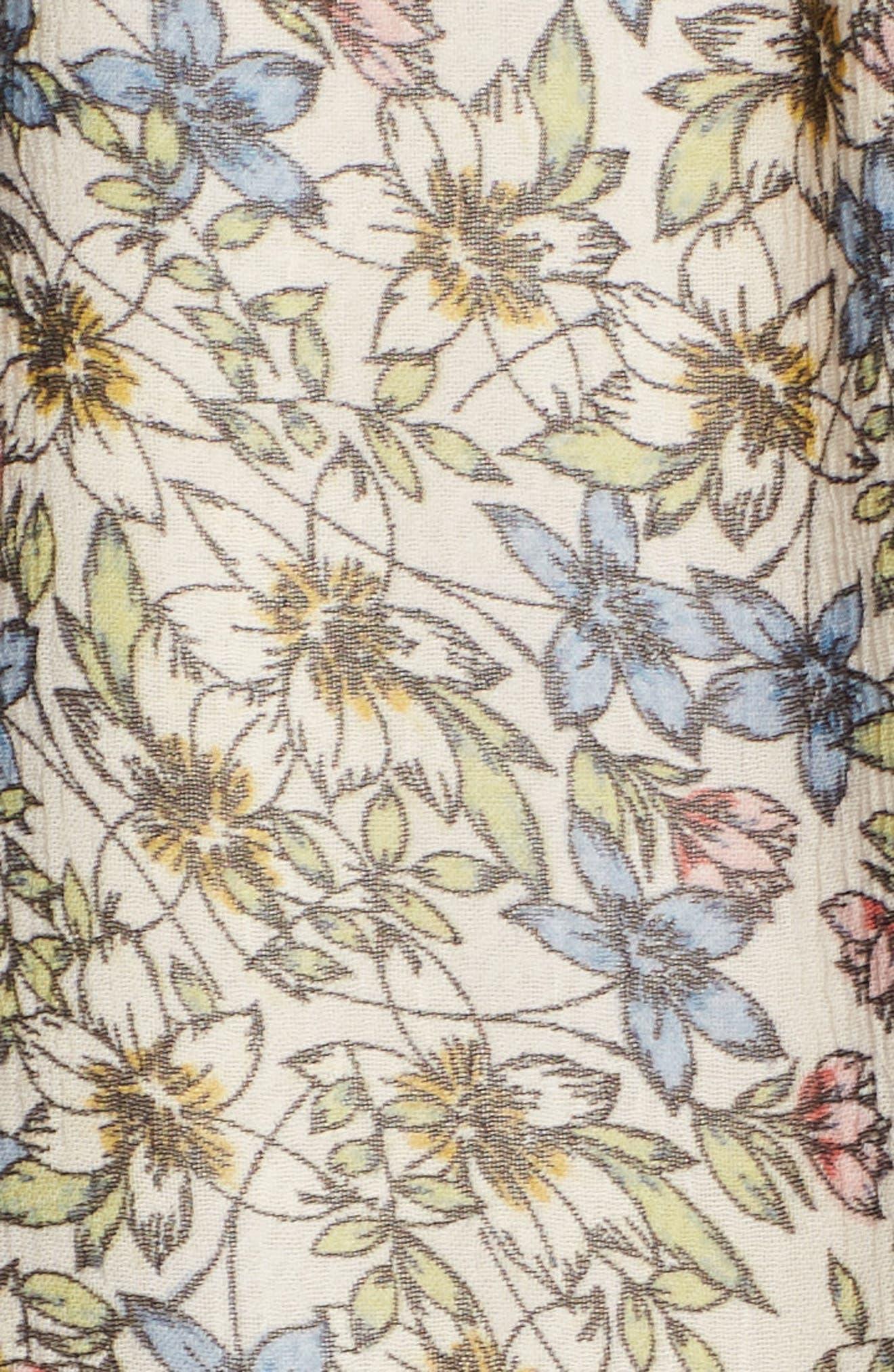 Deda Popover Dress,                             Alternate thumbnail 5, color,                             Oatmeal