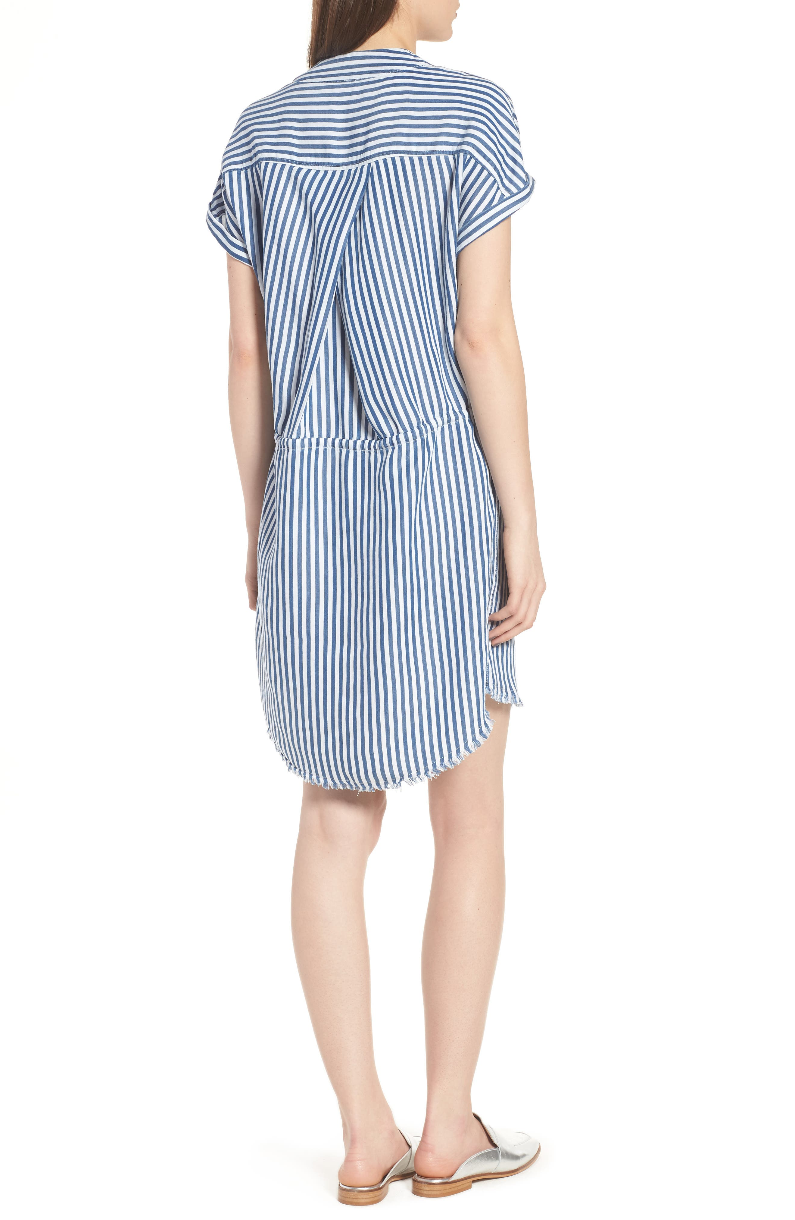 Haidee Stripe Shift Dress,                             Alternate thumbnail 2, color,                             White/ Blue Bell Stripe