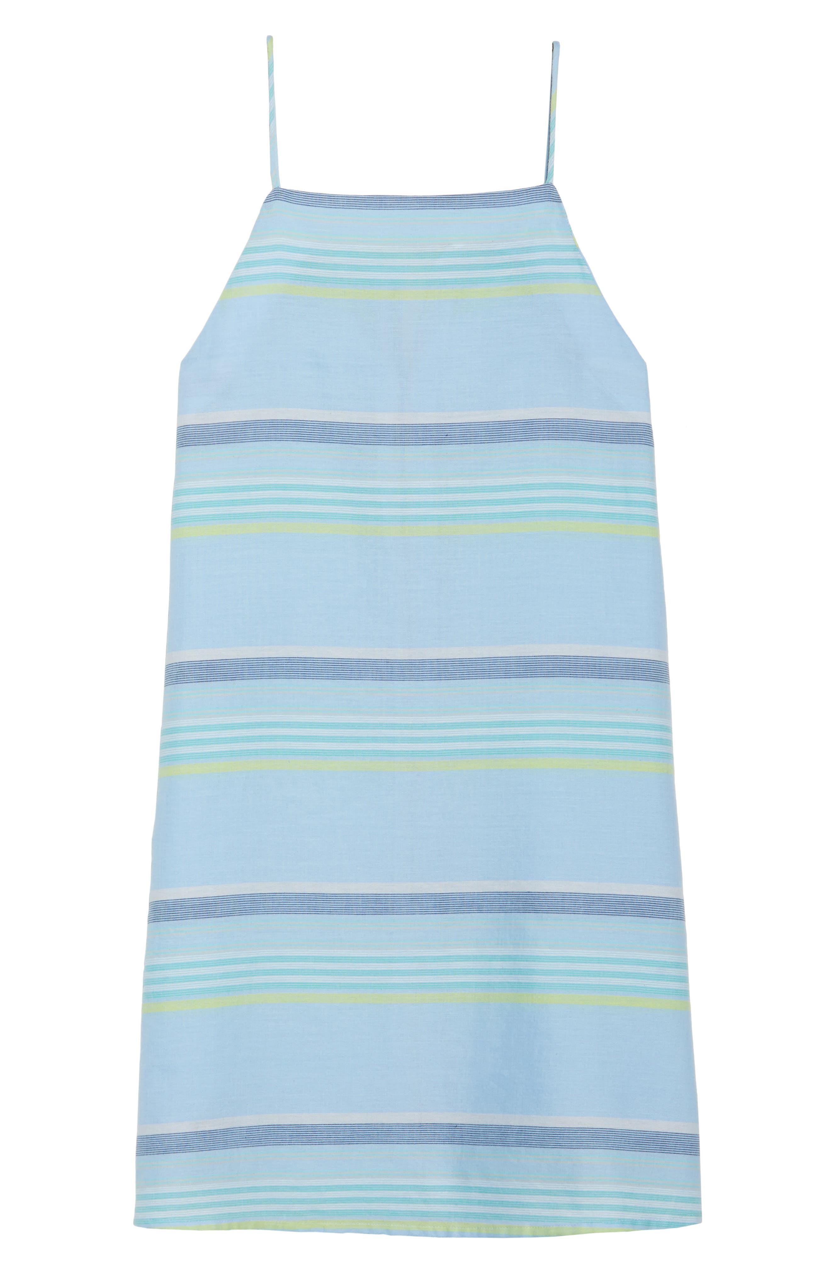 Sunset Stripe Cover-Up Dress,                             Alternate thumbnail 6, color,                             Sky Blue