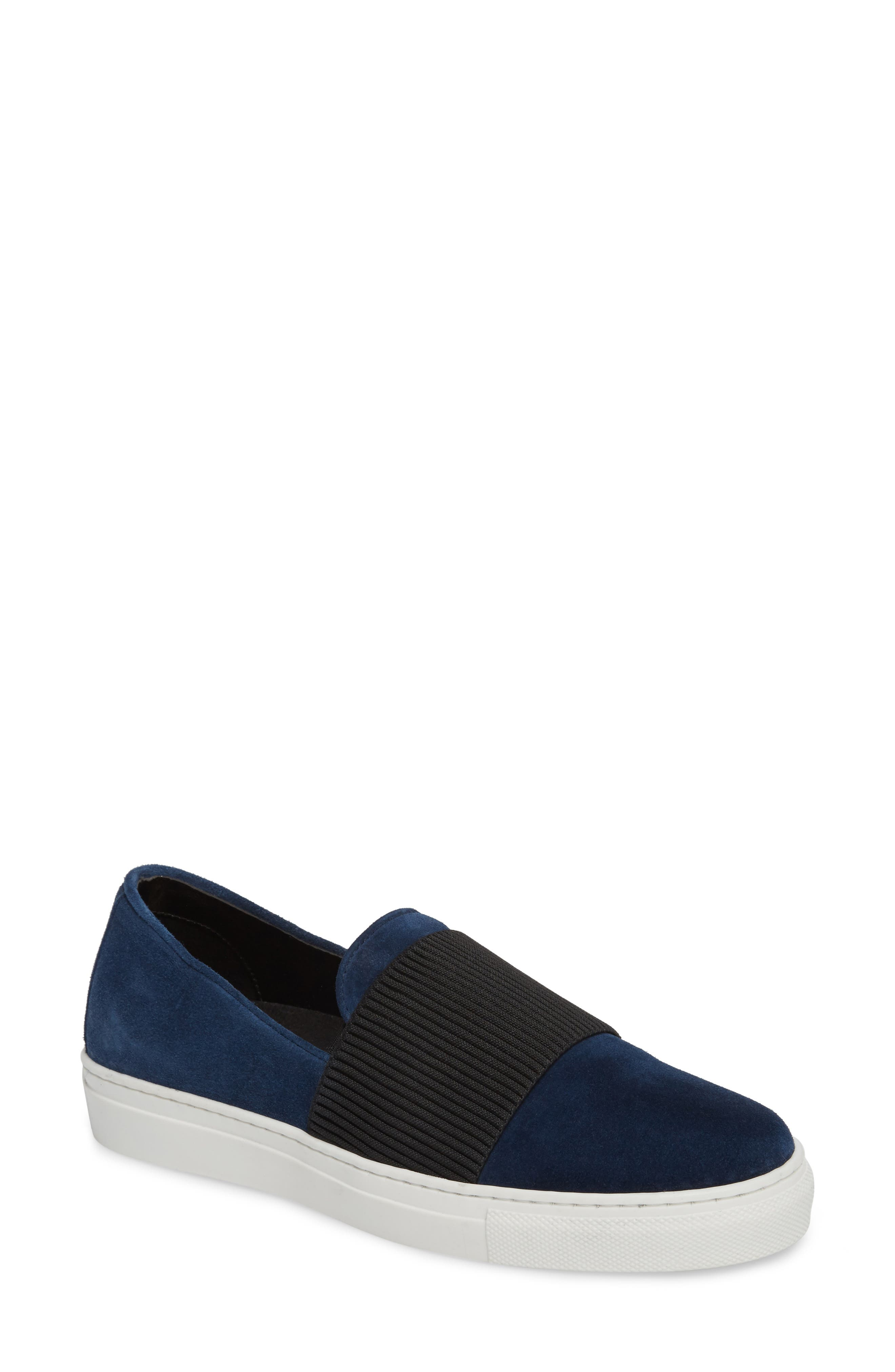 Otto Slip-On Sneaker,                             Main thumbnail 1, color,                             Navy Suede