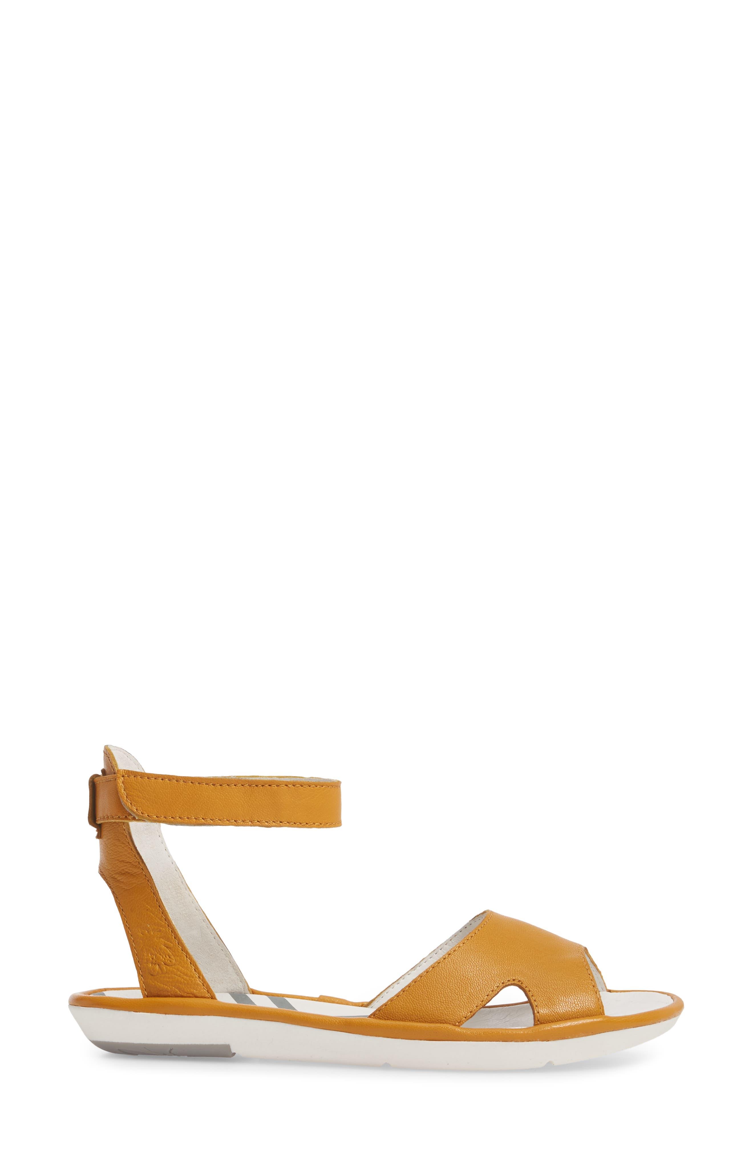 Mafi Sandal,                             Alternate thumbnail 3, color,                             Honey Leather