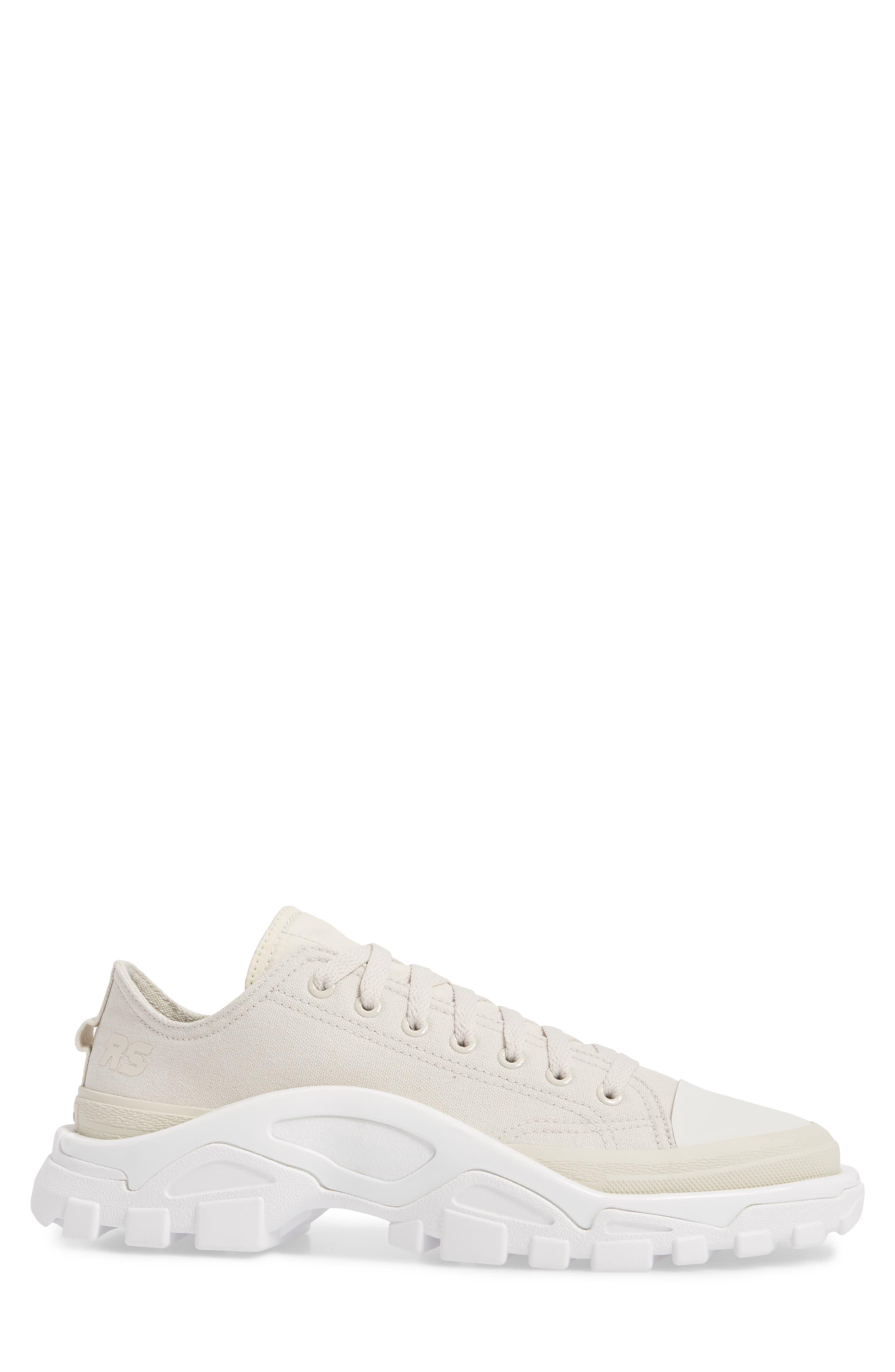 Detroit Low Top Sneaker,                             Alternate thumbnail 3, color,                             Beige/ White