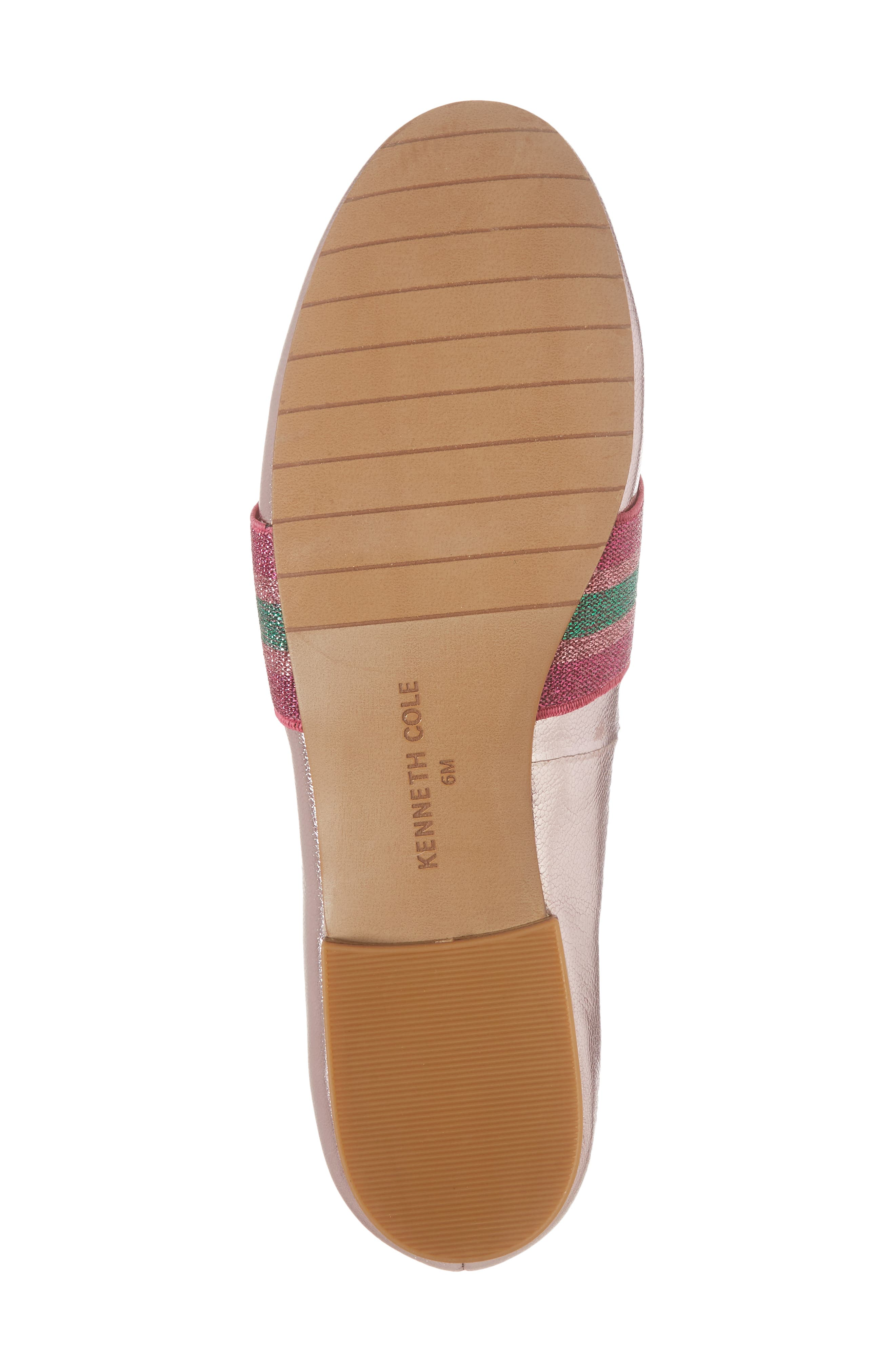 Walden Loafer,                             Alternate thumbnail 6, color,                             Pink Metallic Leather