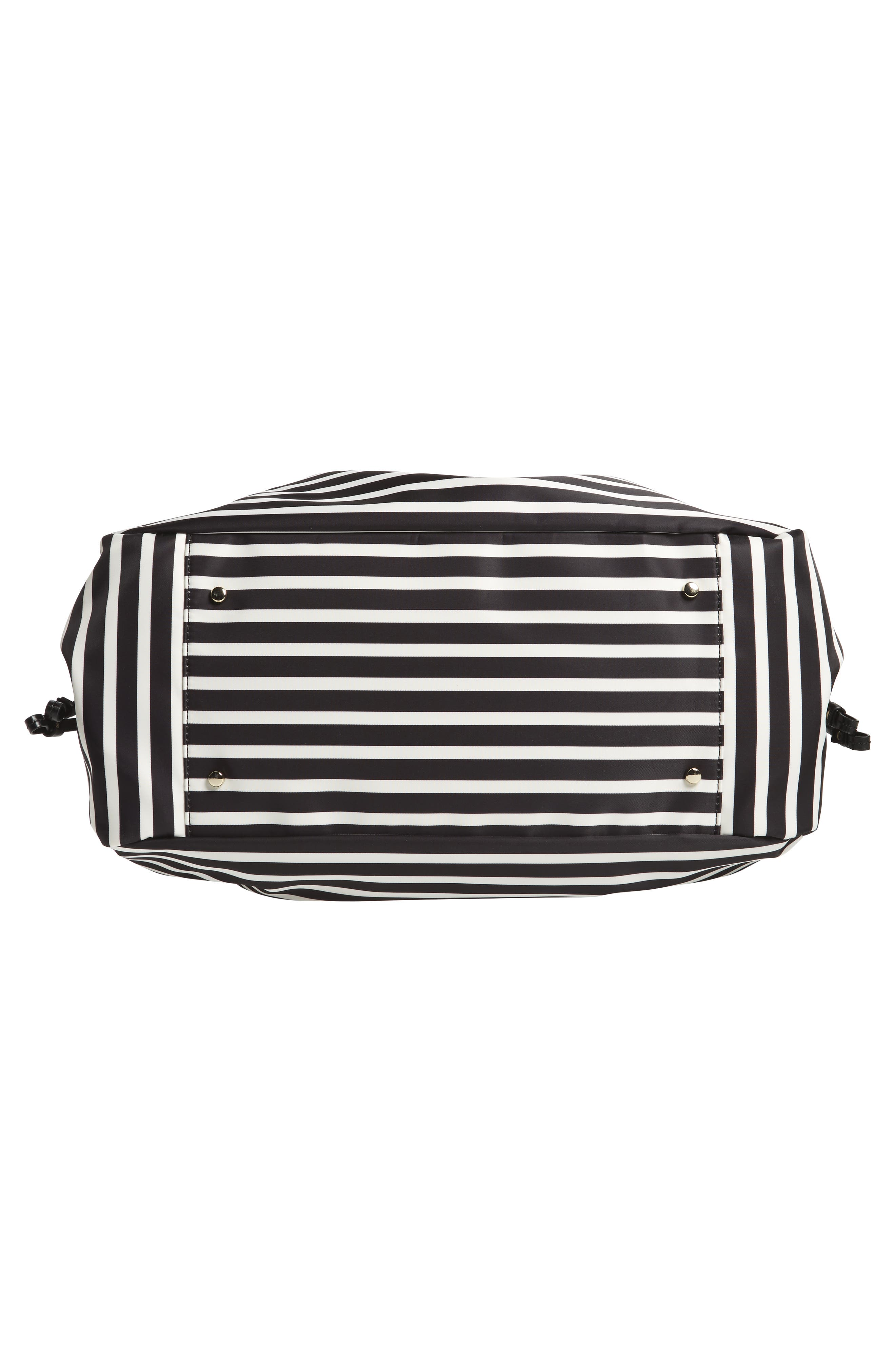 watson lane - stevie diaper bag,                             Alternate thumbnail 6, color,                             Black/ Clotted Cream