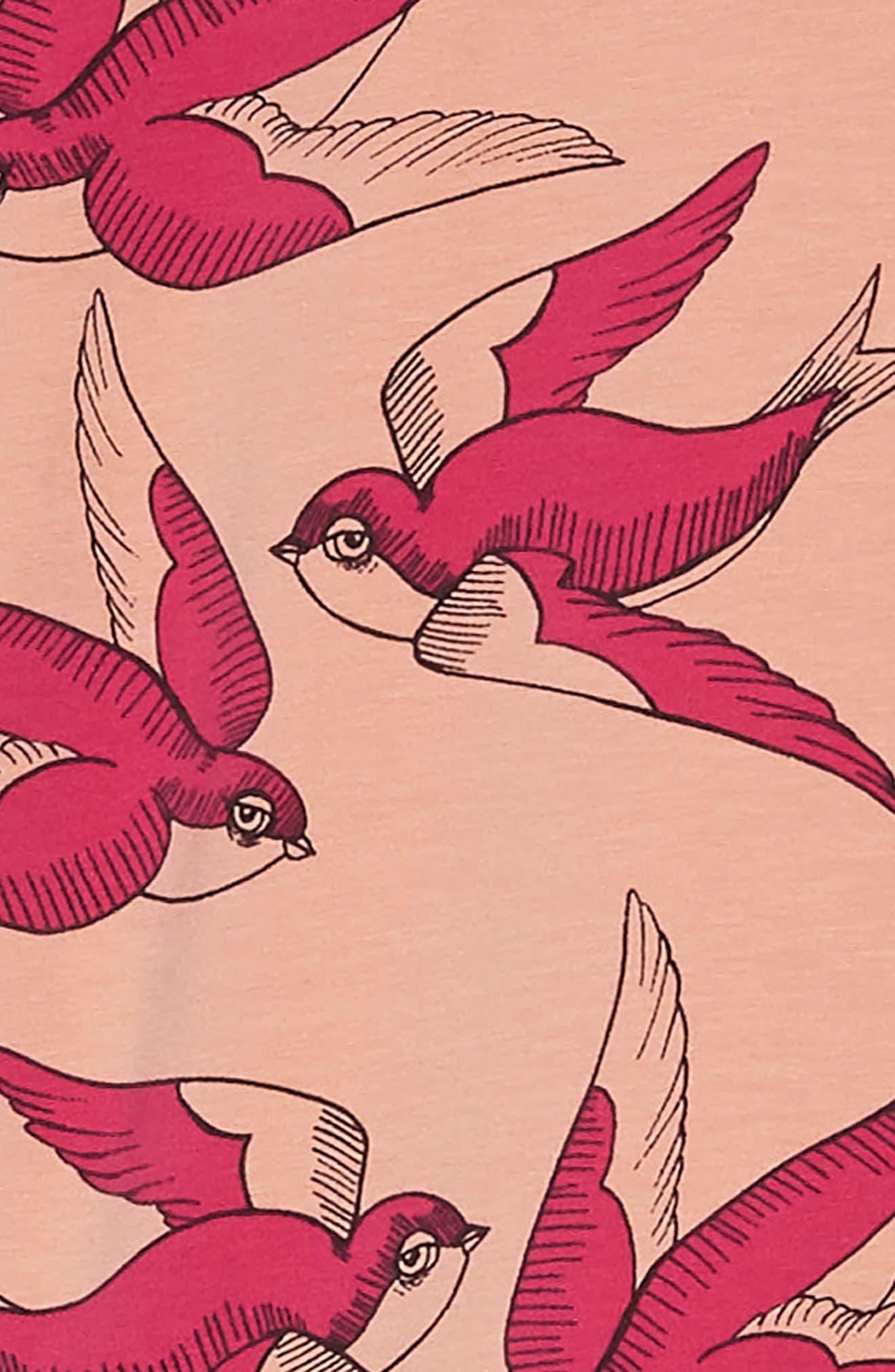 Alternate Image 3  - Mini Rodini Swallows Frill Dress (Toddler Girls & Little Girls)