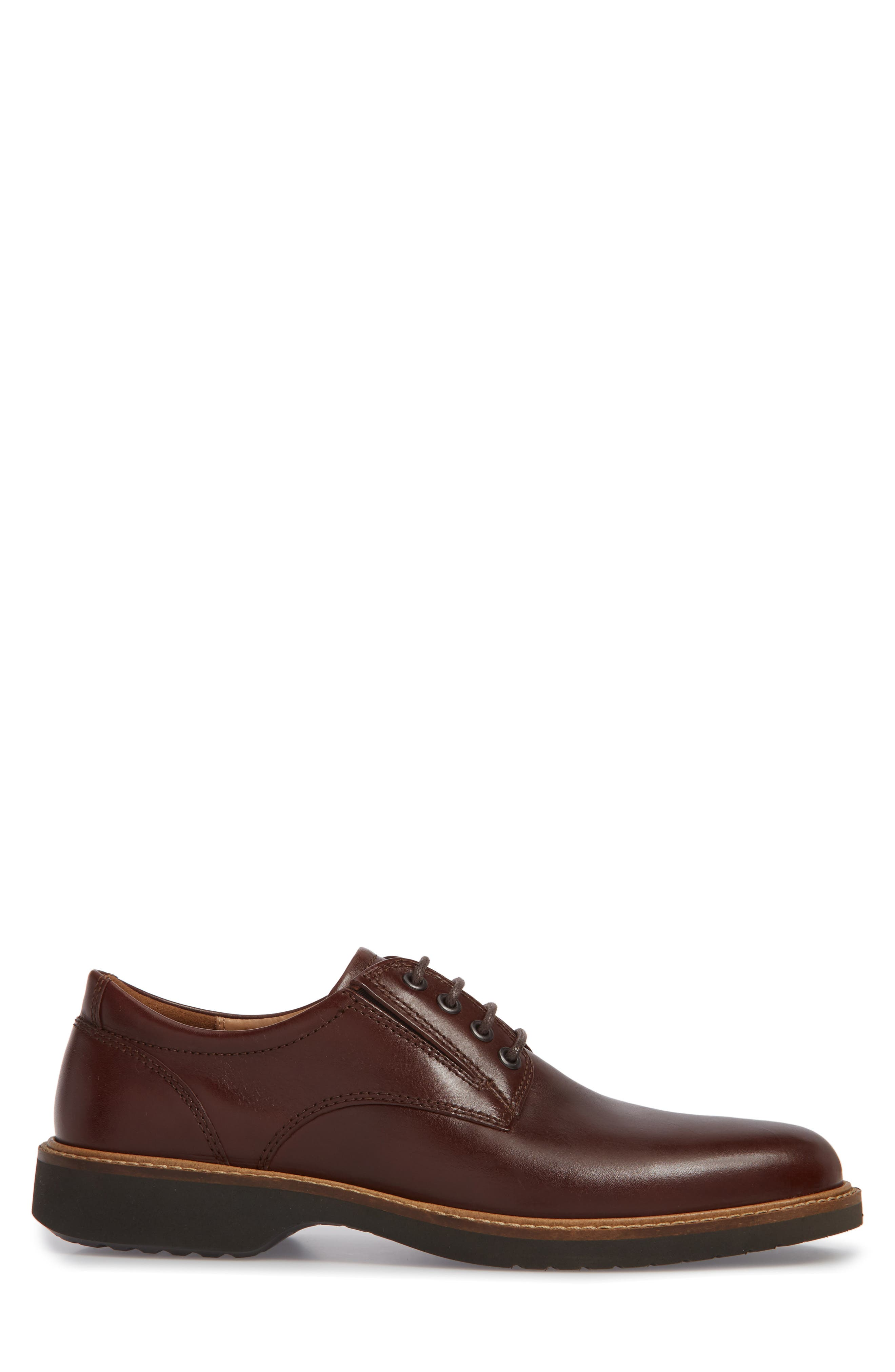 Ian Casual Plain Toe Derby,                             Alternate thumbnail 3, color,                             Mink Leather