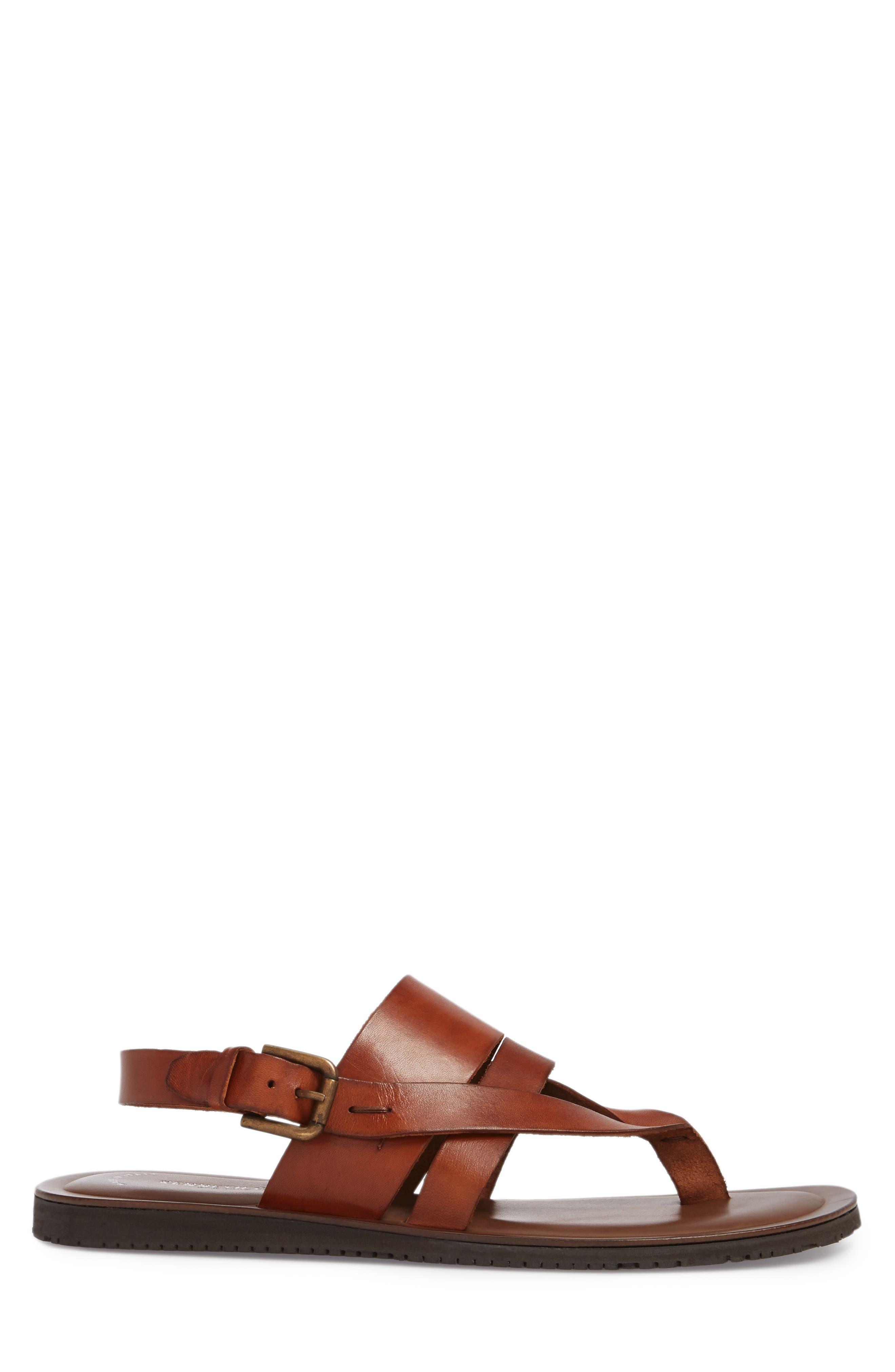 'Reel-Ist' Sandal,                             Alternate thumbnail 3, color,                             Cognac Leather