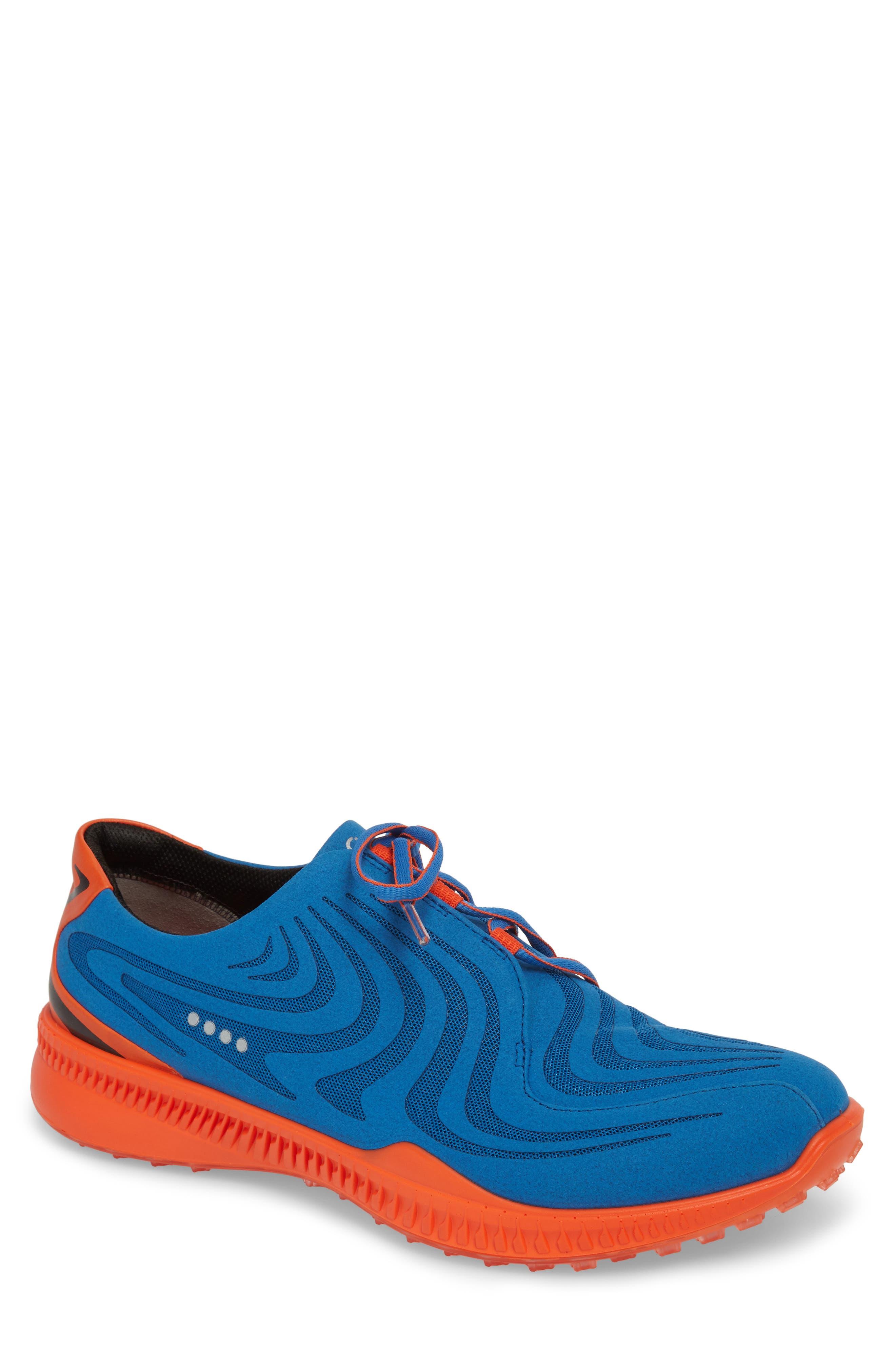 Golf S-Drive Water Resistant Shoe,                             Main thumbnail 1, color,                             Bermuda Blue Leather