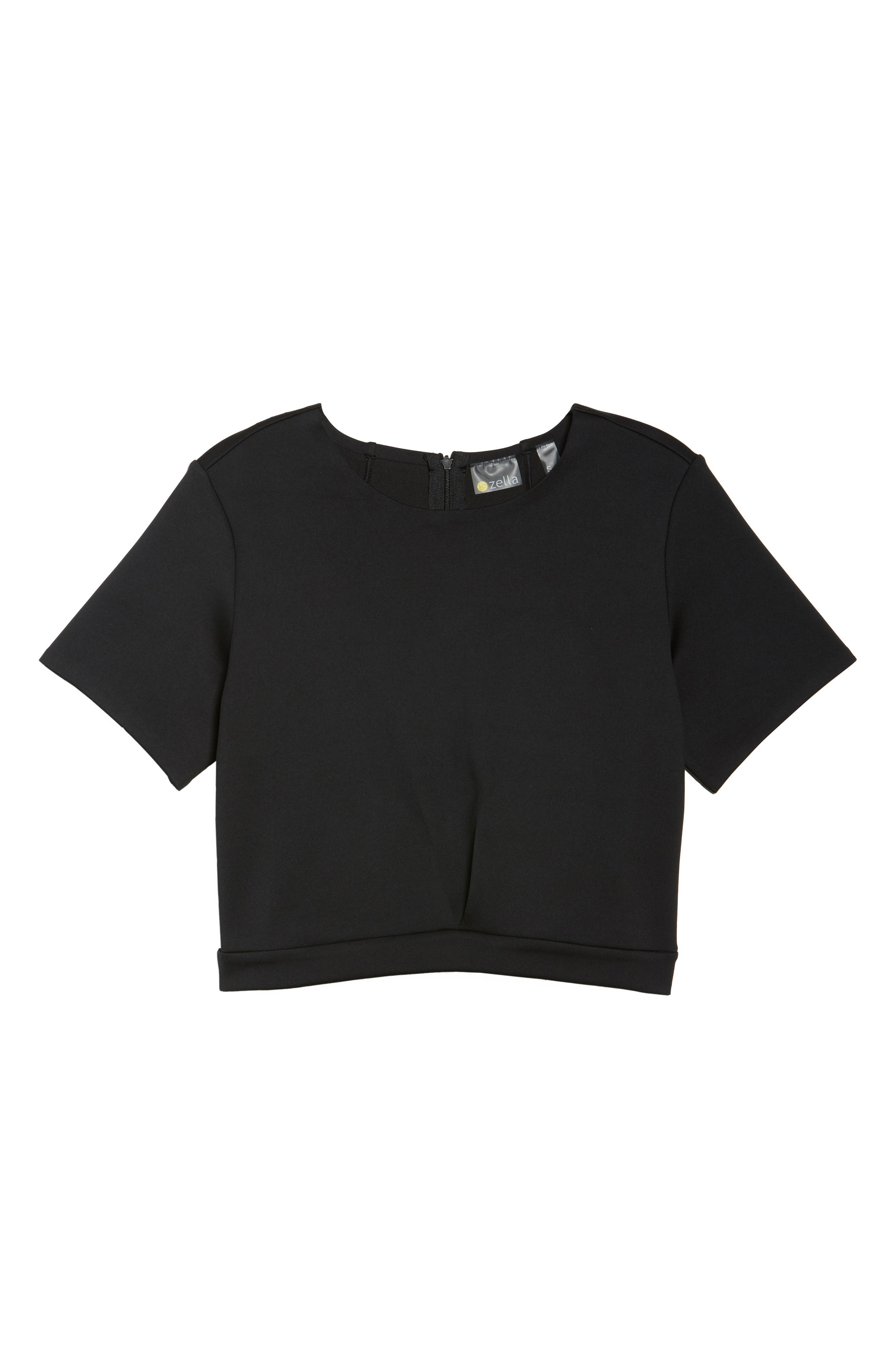 Any Day Crop Top,                             Alternate thumbnail 7, color,                             Black