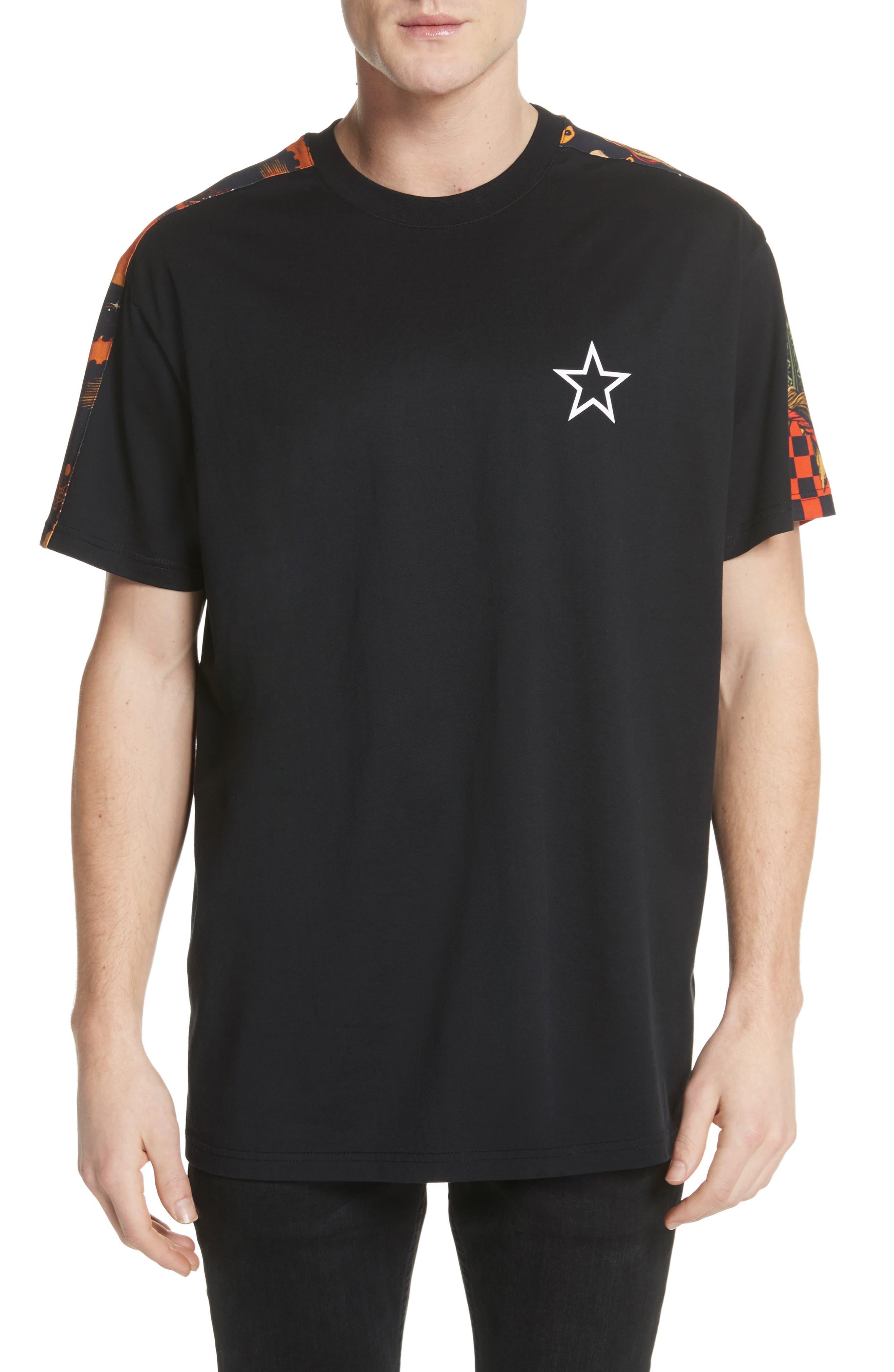 Fire Print T-Shirt,                         Main,                         color, Black