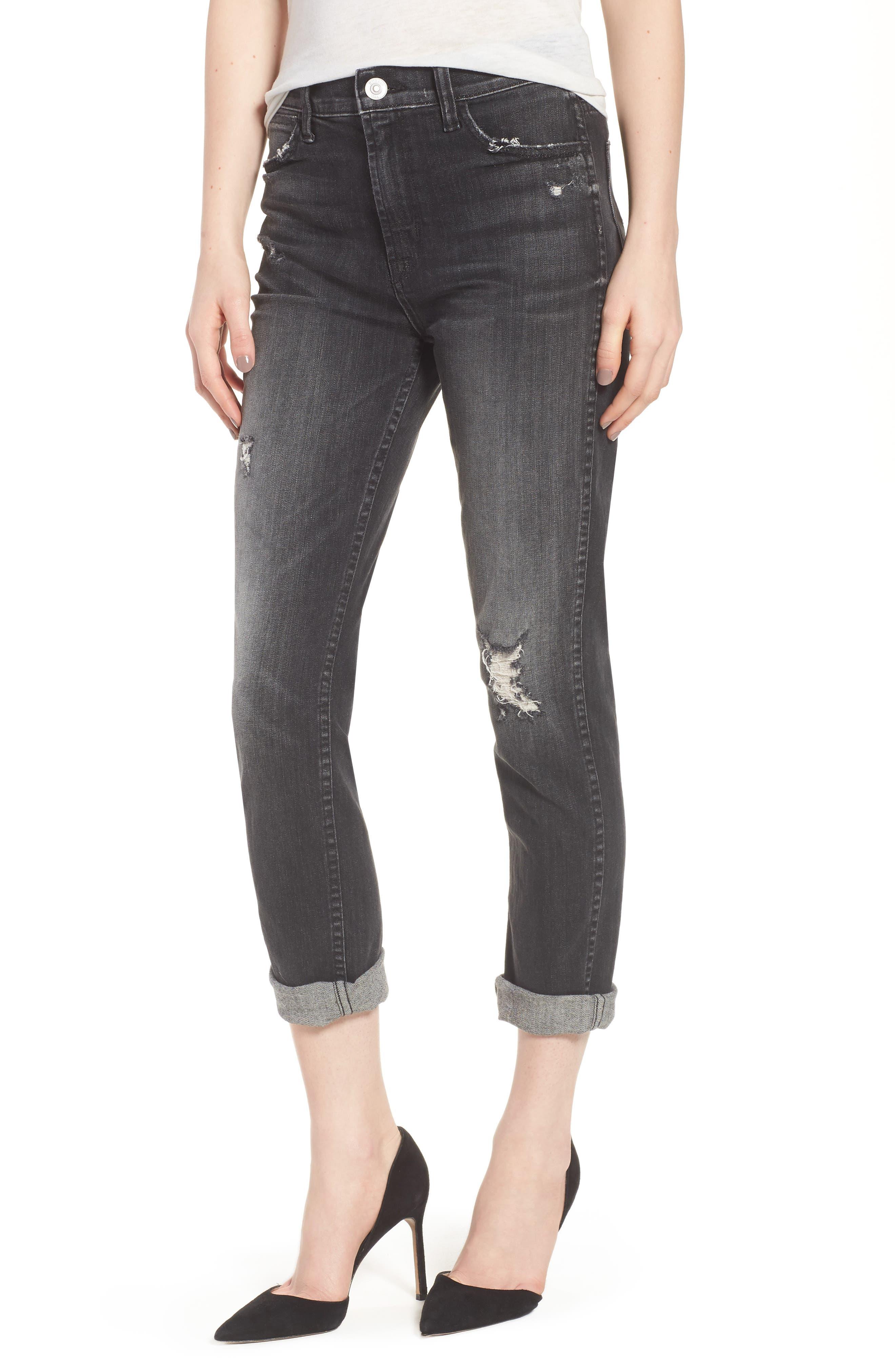 Vintage Holly High Waist Crop Skinny Jeans,                             Main thumbnail 1, color,                             Jawbreaker