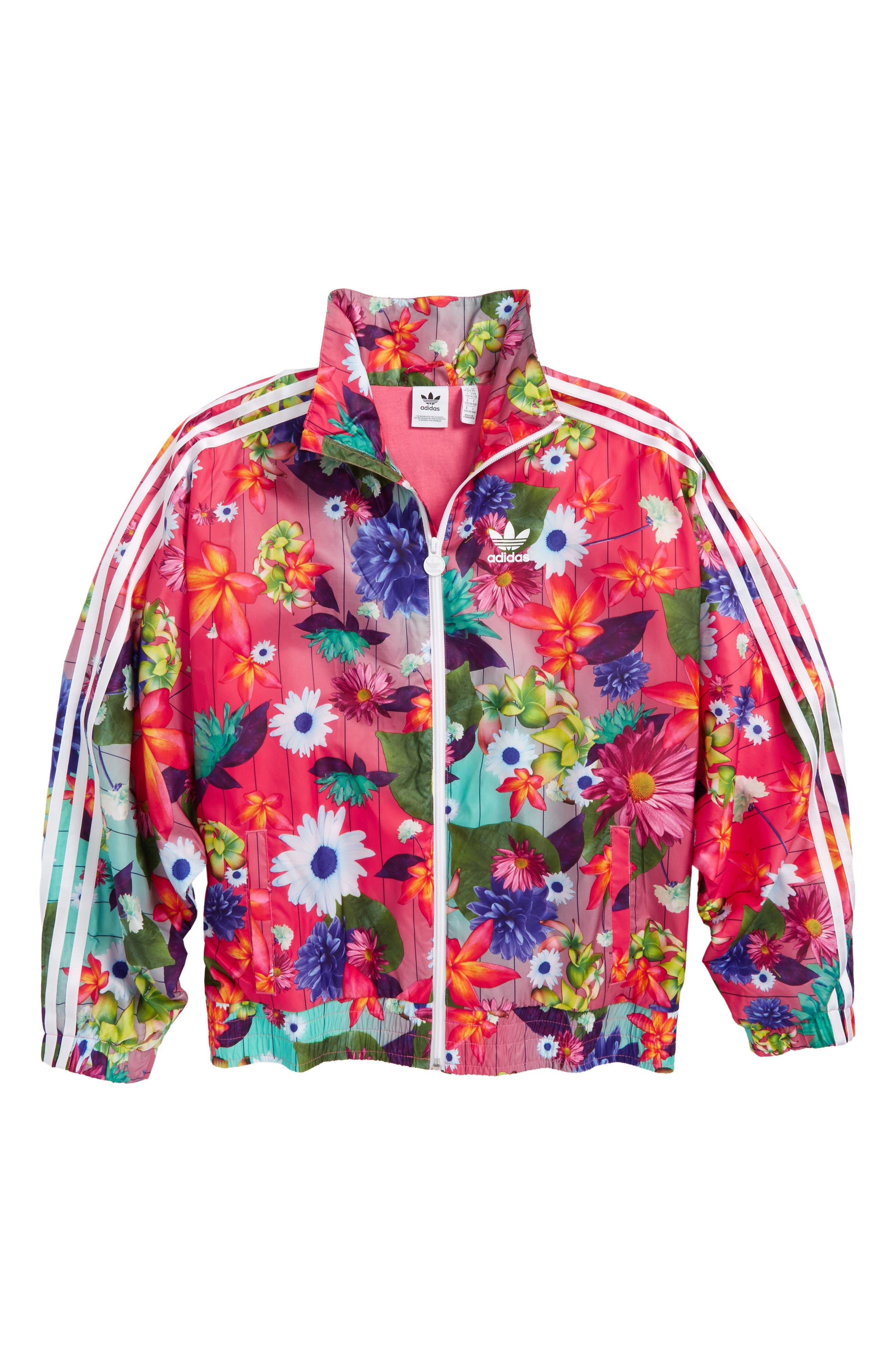 adidas Graphic Windbreaker Jacket,                         Main,                         color, Multicolor