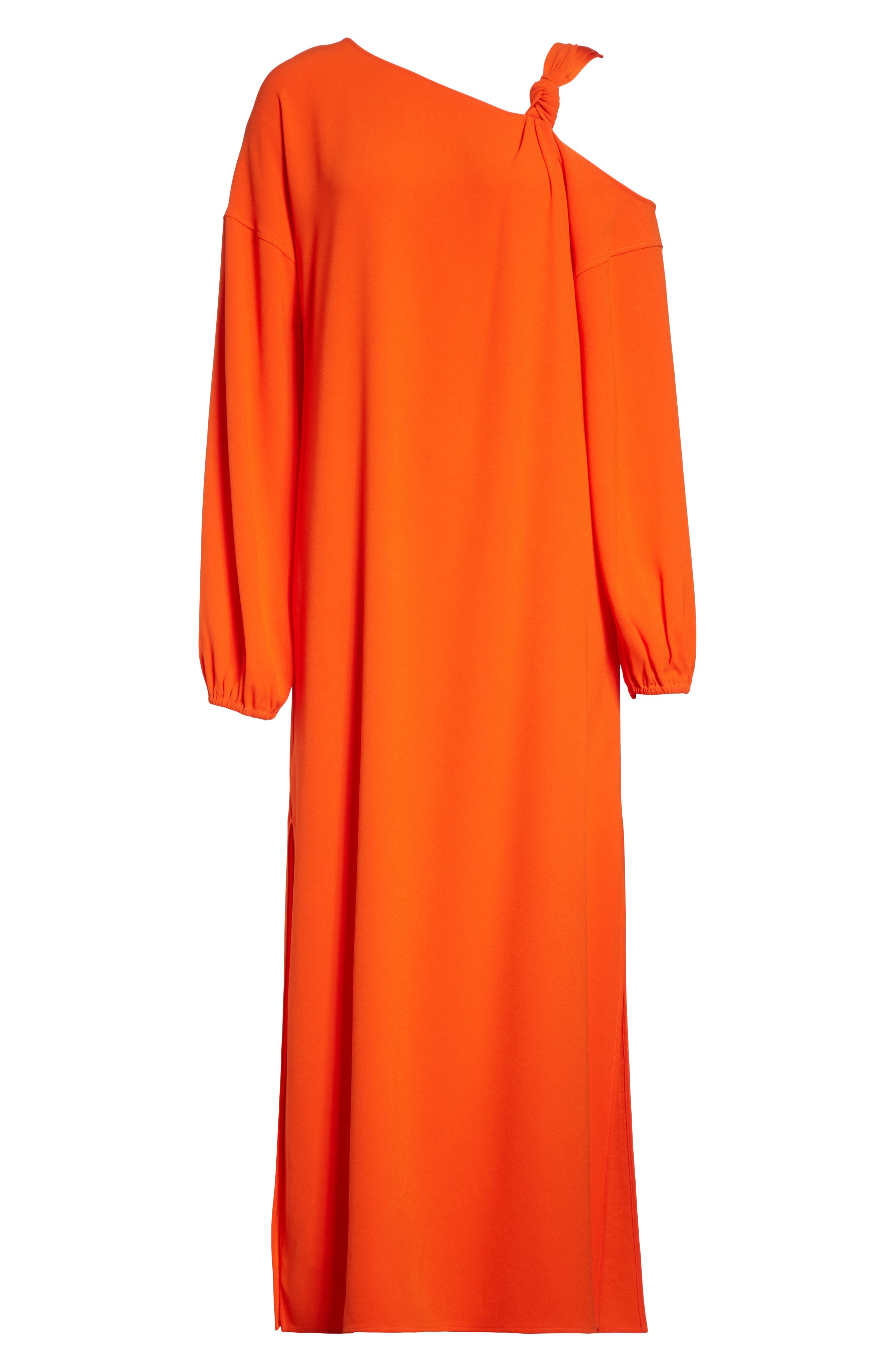 Shontae One-Shoulder Maxi Dress,                             Alternate thumbnail 7, color,                             Tangerine