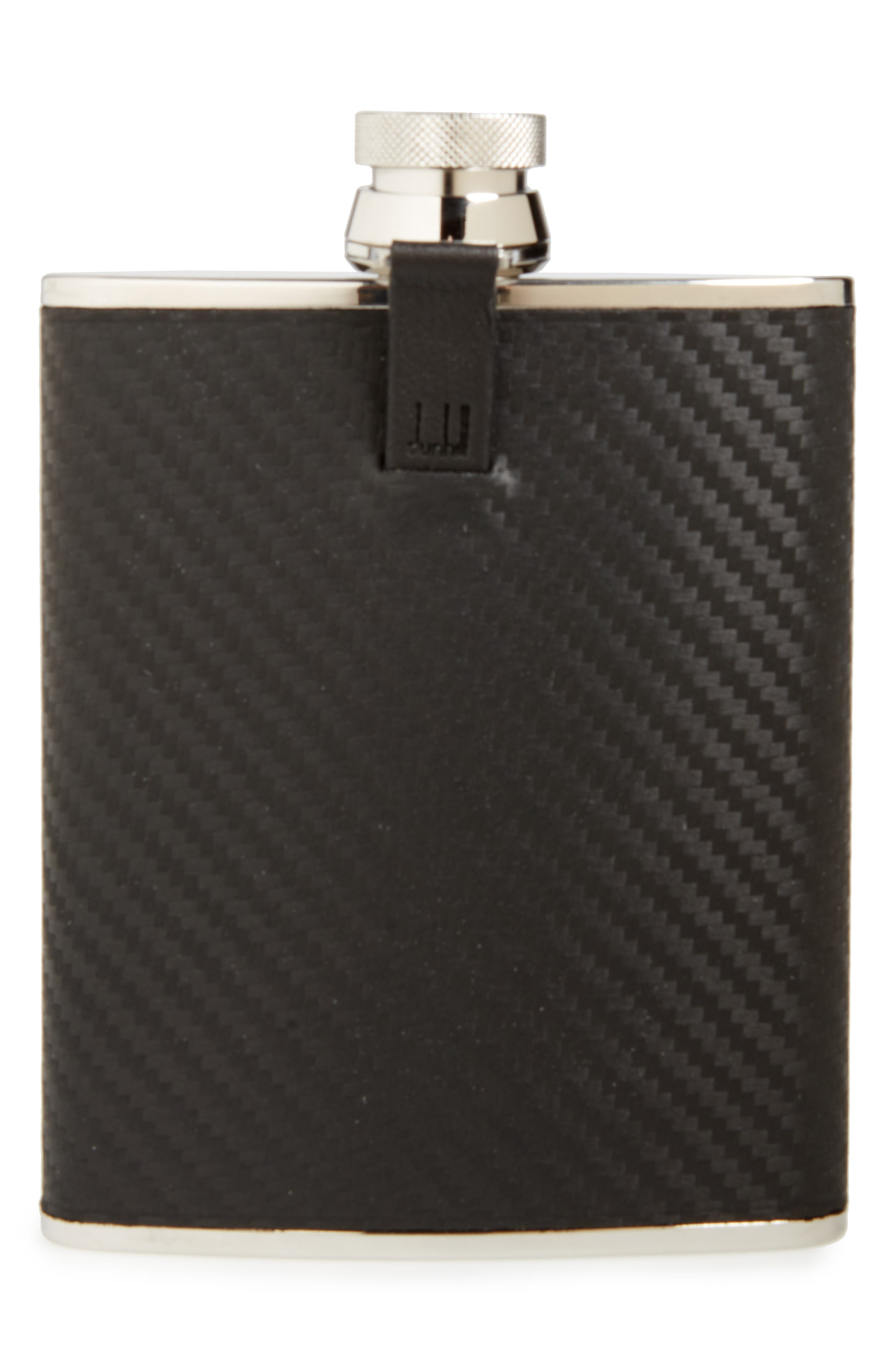 Chassis Stainless Steel Flask,                             Main thumbnail 1, color,                             Black