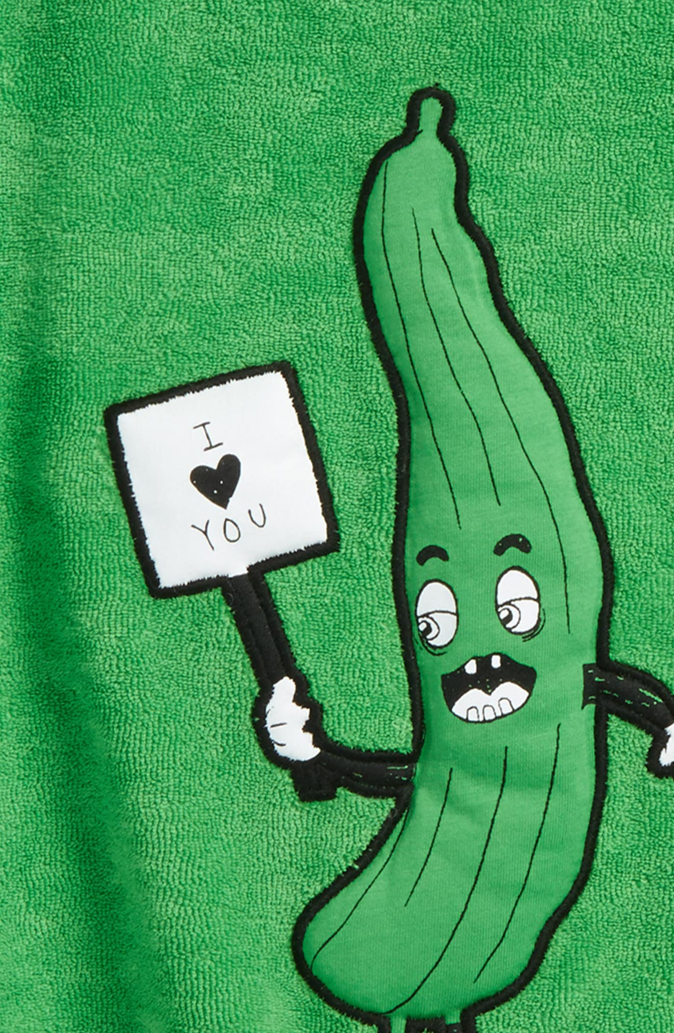 Cucumber Terry Sweatshirt,                             Alternate thumbnail 2, color,                             Green