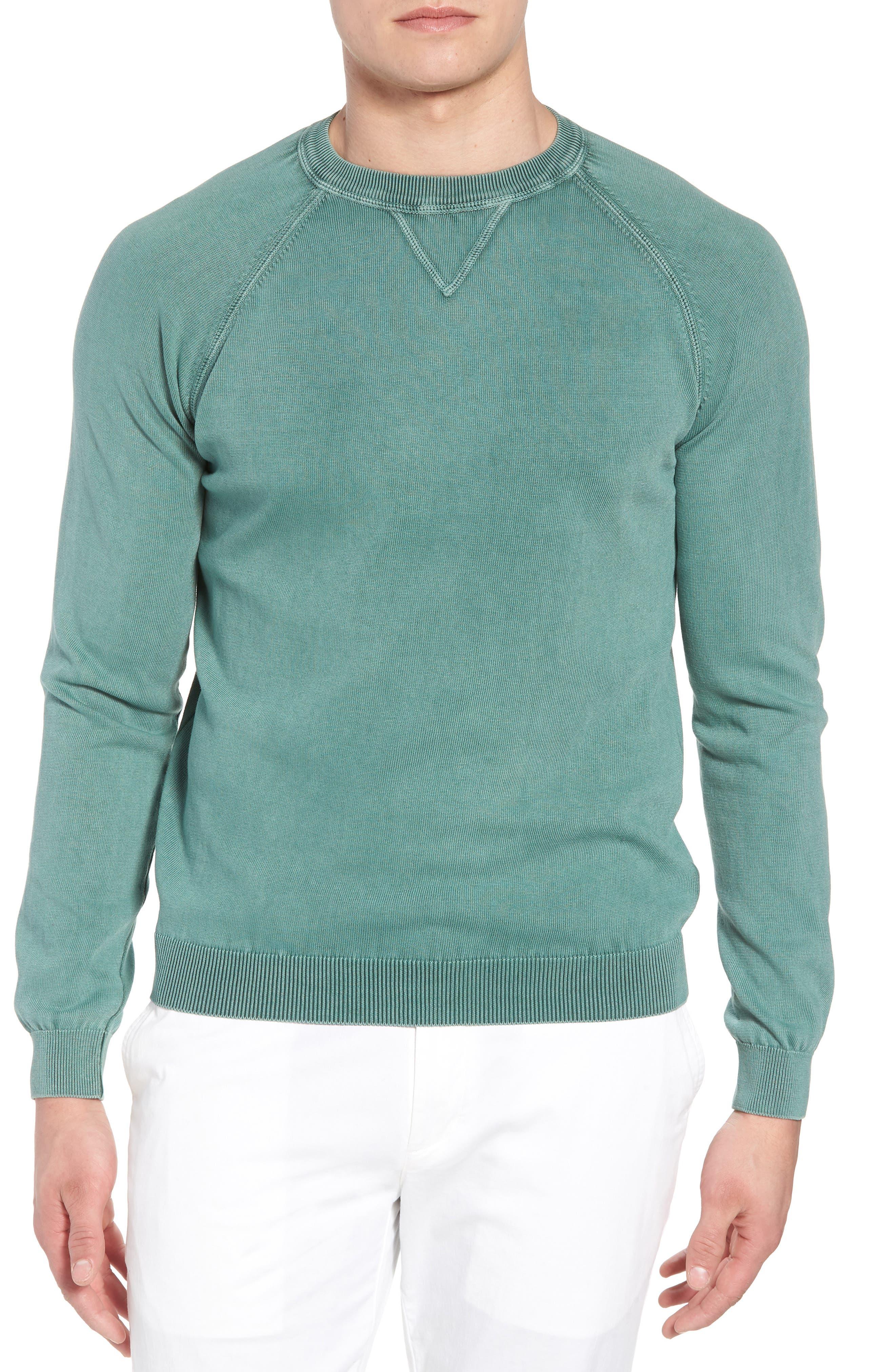 Stonewash Cotton Sweatshirt,                         Main,                         color, Washed Sage