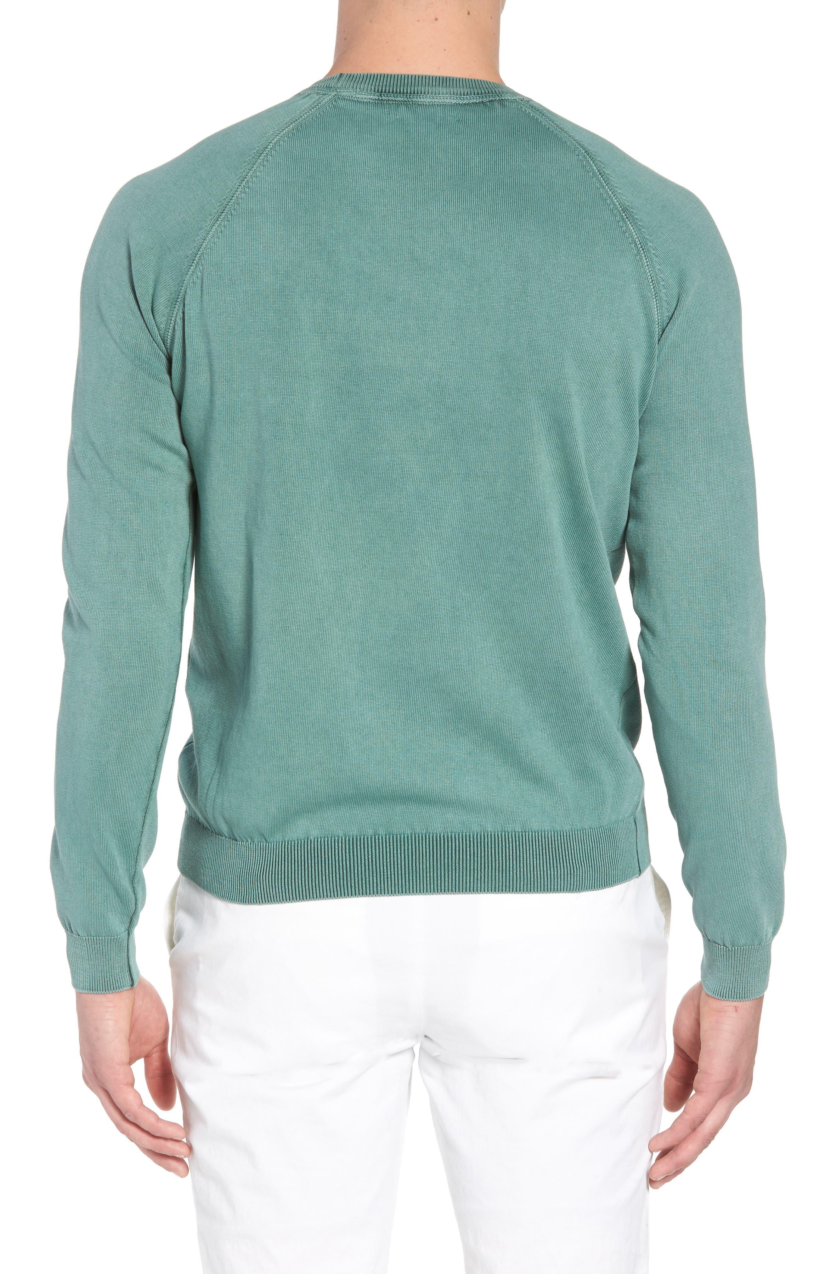 Stonewash Cotton Sweatshirt,                             Alternate thumbnail 2, color,                             Washed Sage