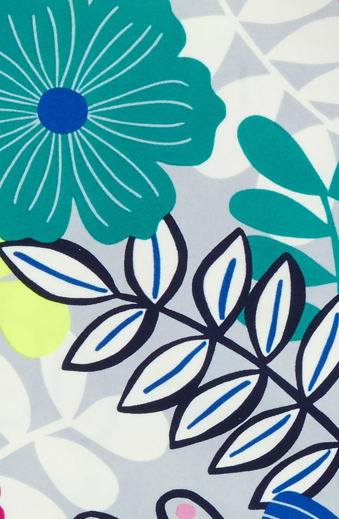 Two-Piece Rashguard Swimsuit,                             Alternate thumbnail 2, color,                             Colorful Bouquet