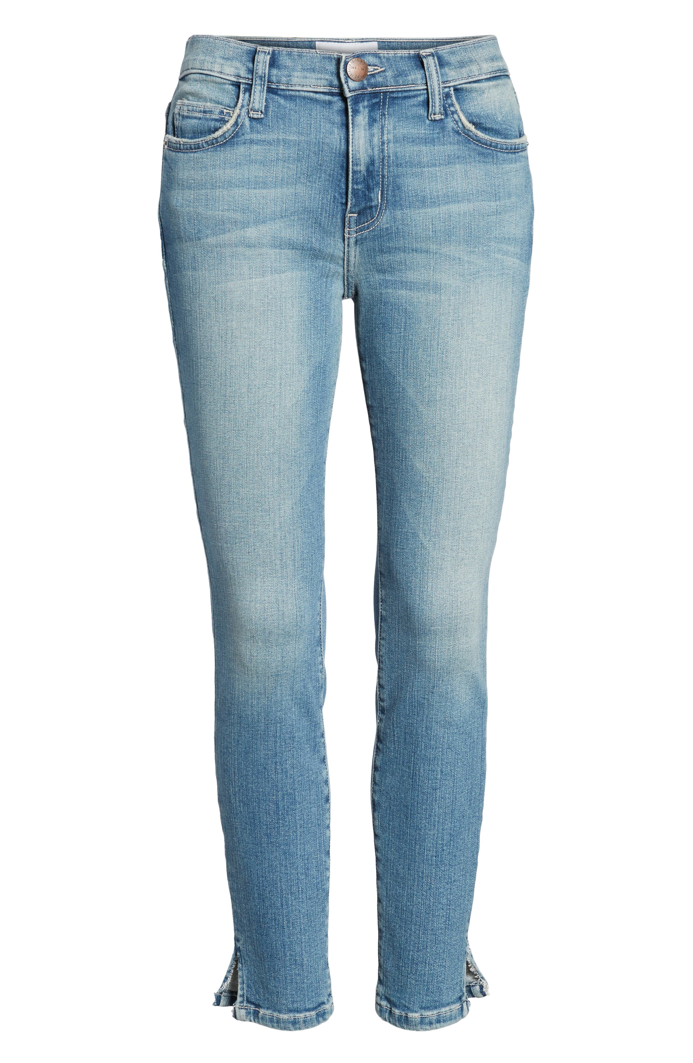 The Stiletto Vent Hem Skinny Jeans,                             Alternate thumbnail 7, color,                             Joey Medium