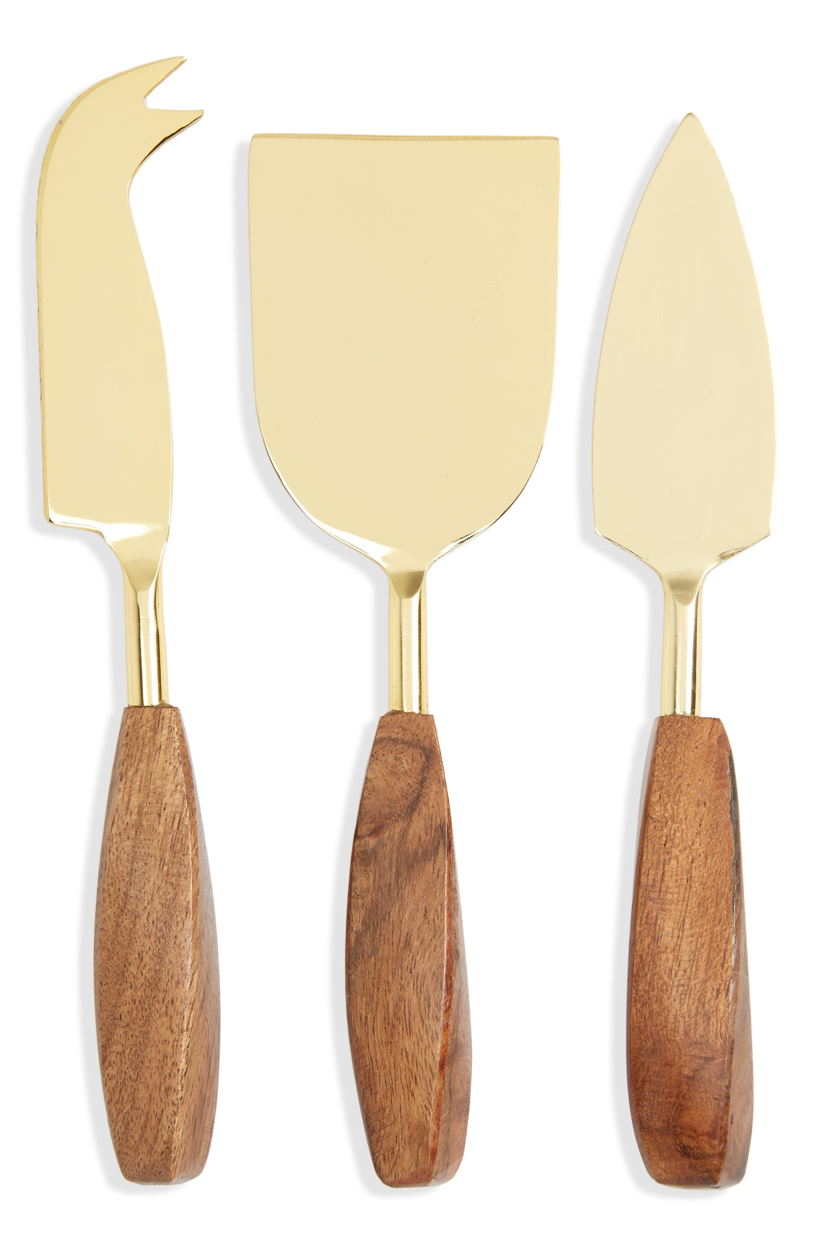 Cheese Tool Set,                             Main thumbnail 1, color,                             Gold Metallic