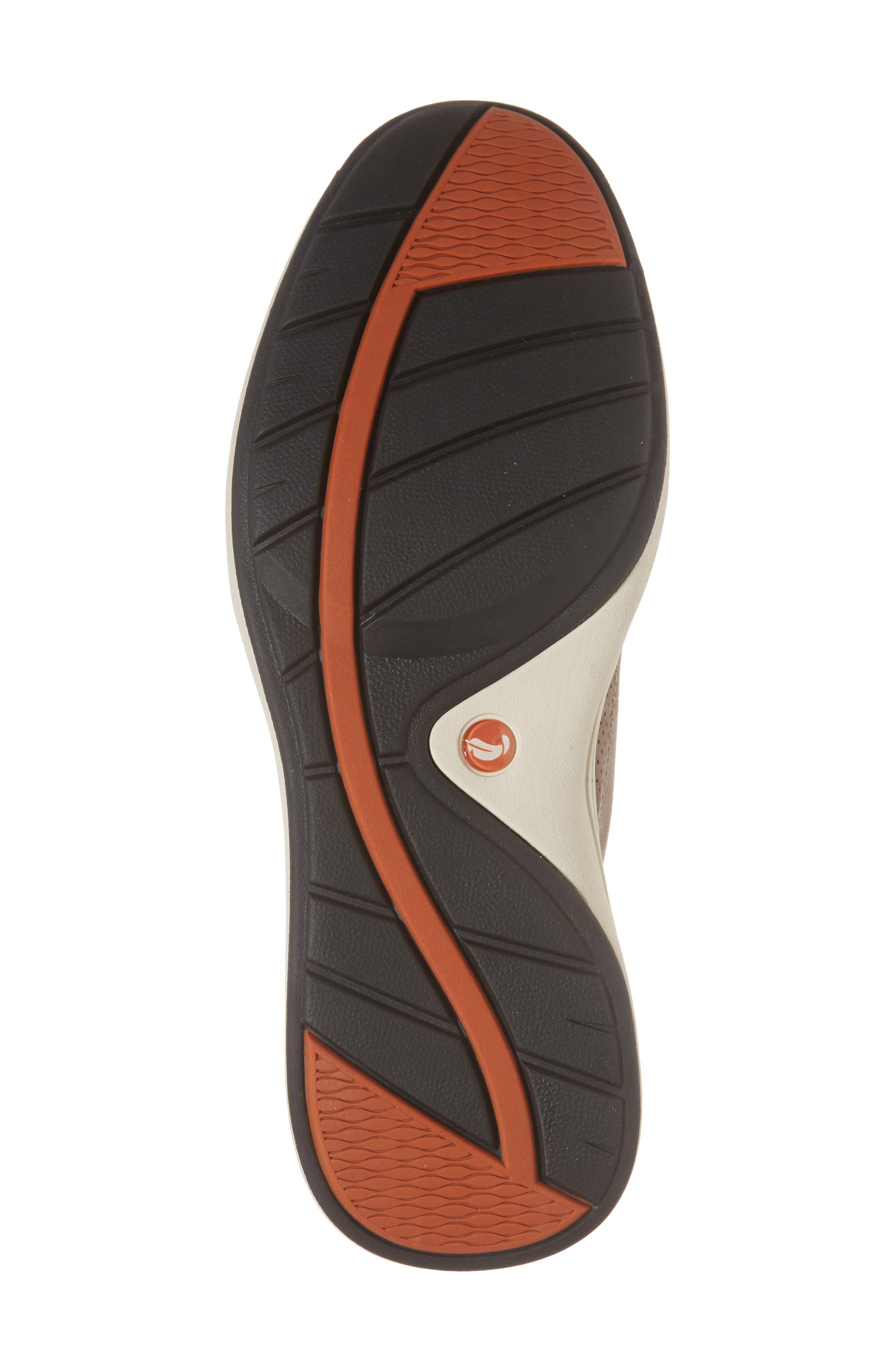 Clarks<sup>®</sup> Un Coast Low Top Sneaker,                             Alternate thumbnail 6, color,                             Taupe Nubuck