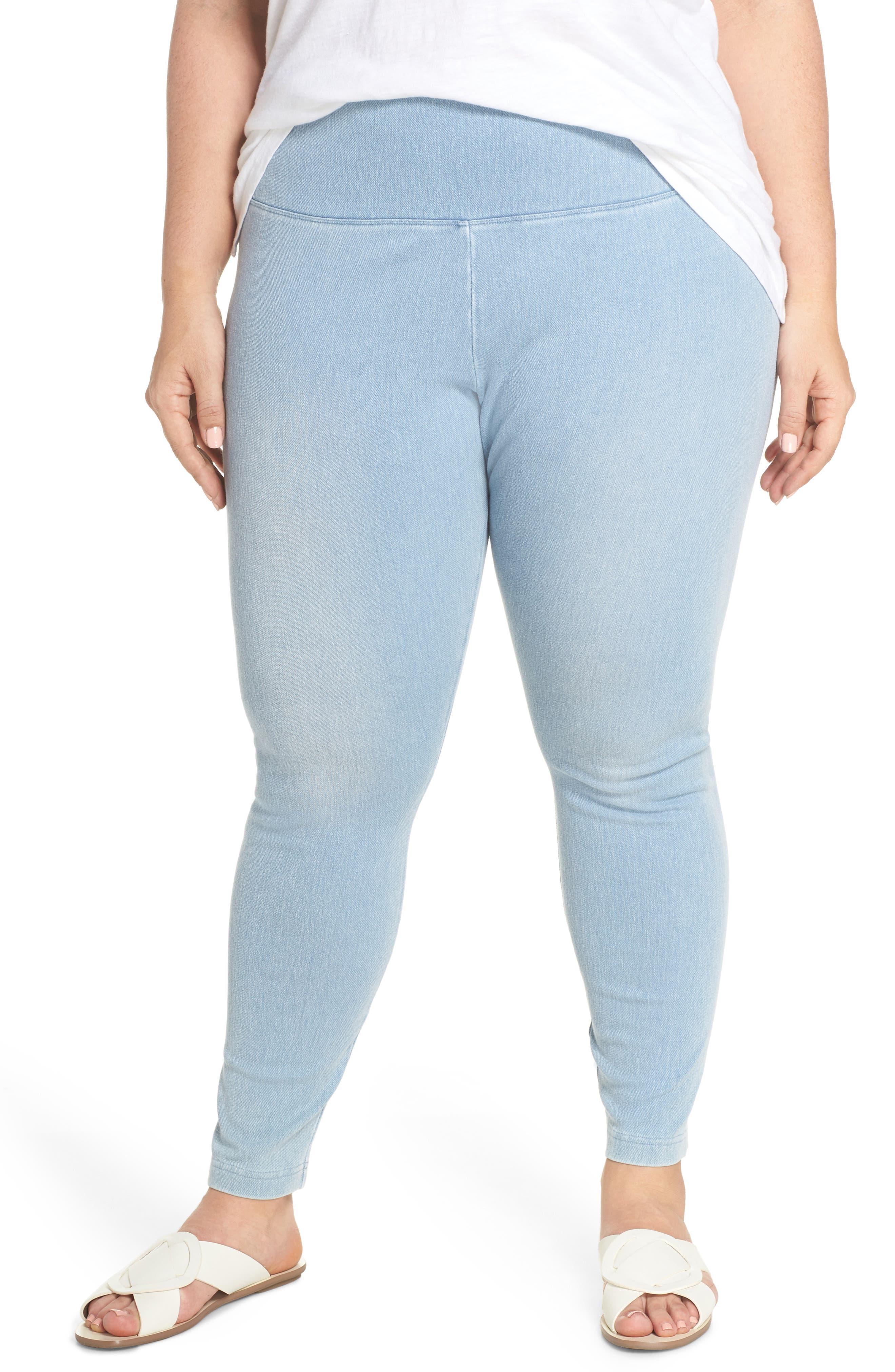 Stretch Denim Leggings,                         Main,                         color, Cashmere Blue