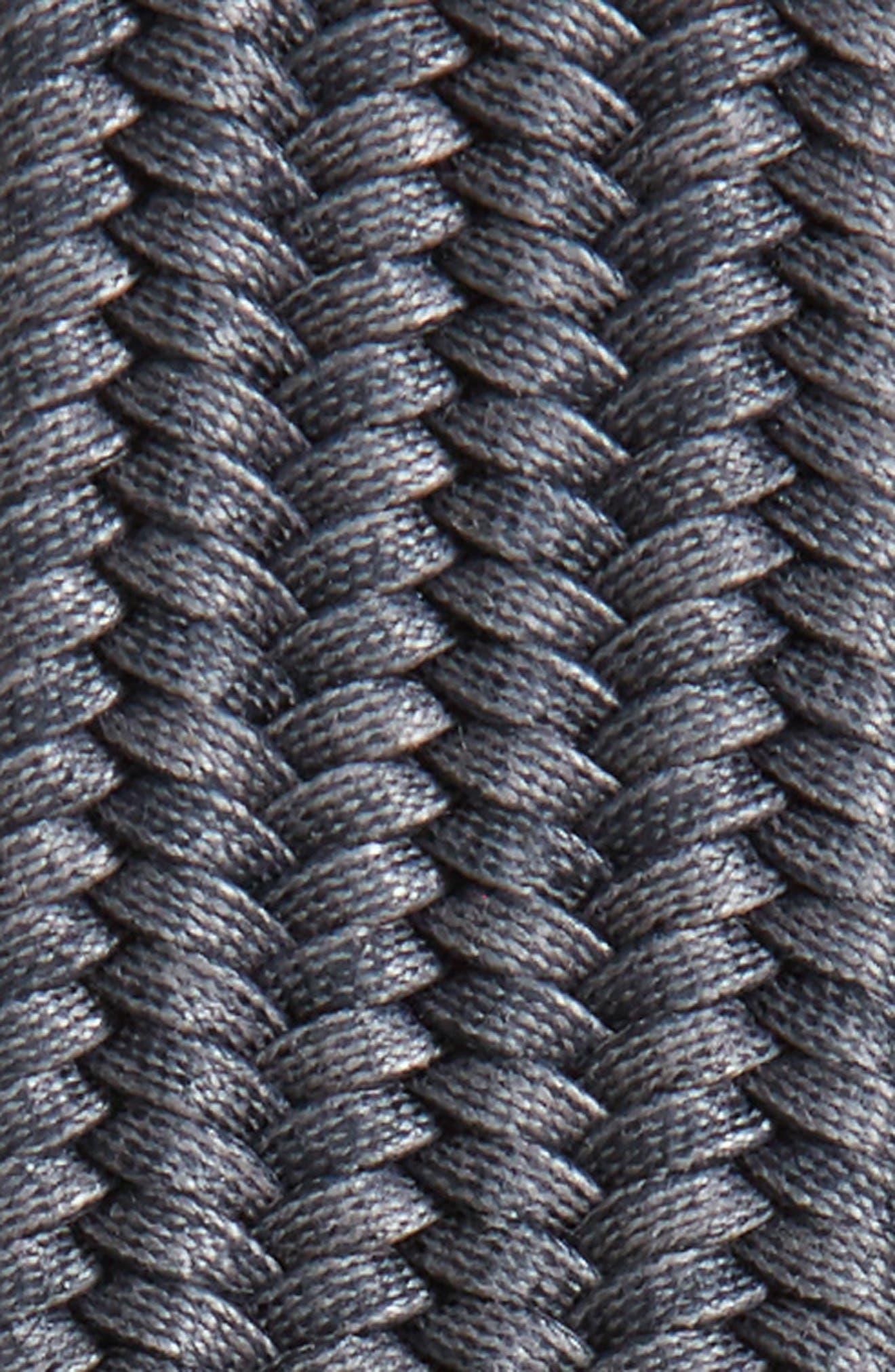 Braided Cotton Belt,                             Alternate thumbnail 2, color,                             Grey