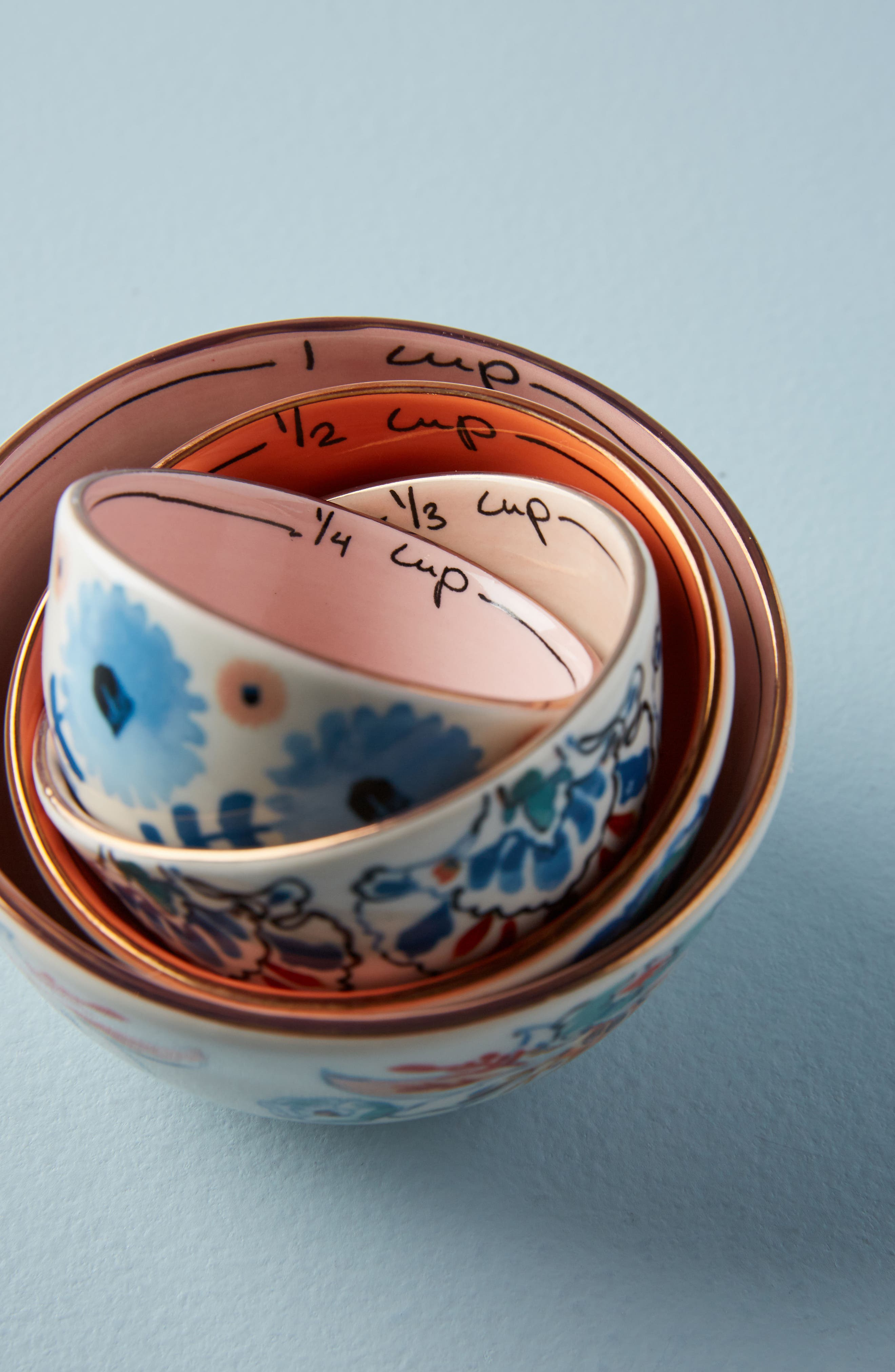 Eres Set of 4 Measuring Cups,                         Main,                         color, Blue Multi