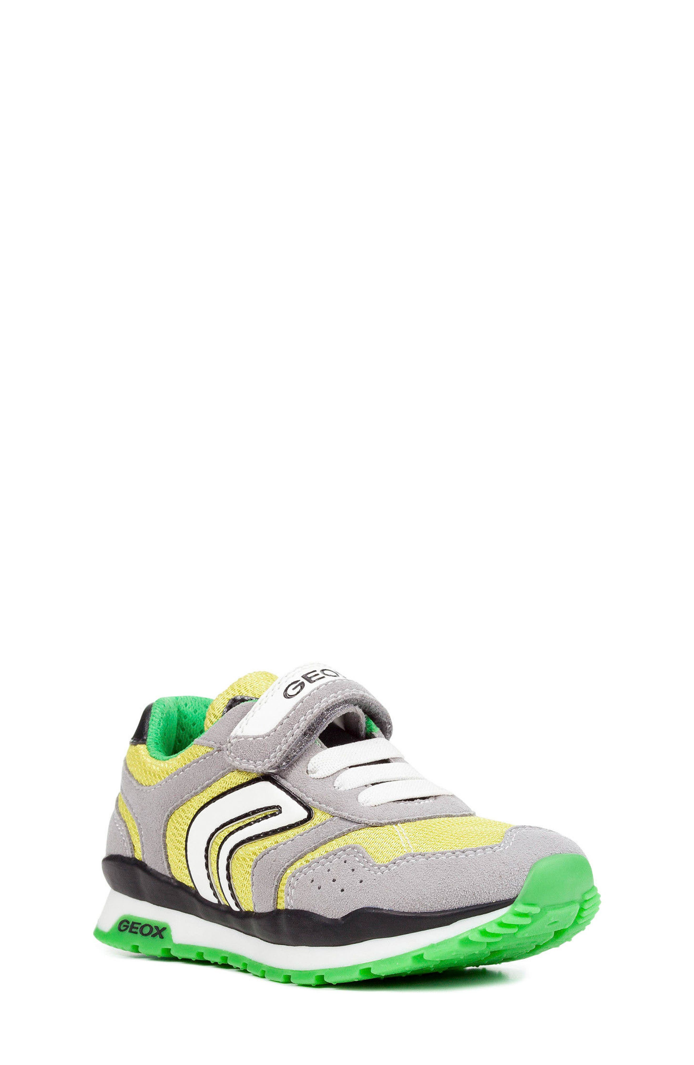 Pavel Low Top Sneaker,                             Main thumbnail 1, color,                             Grey/ Lime