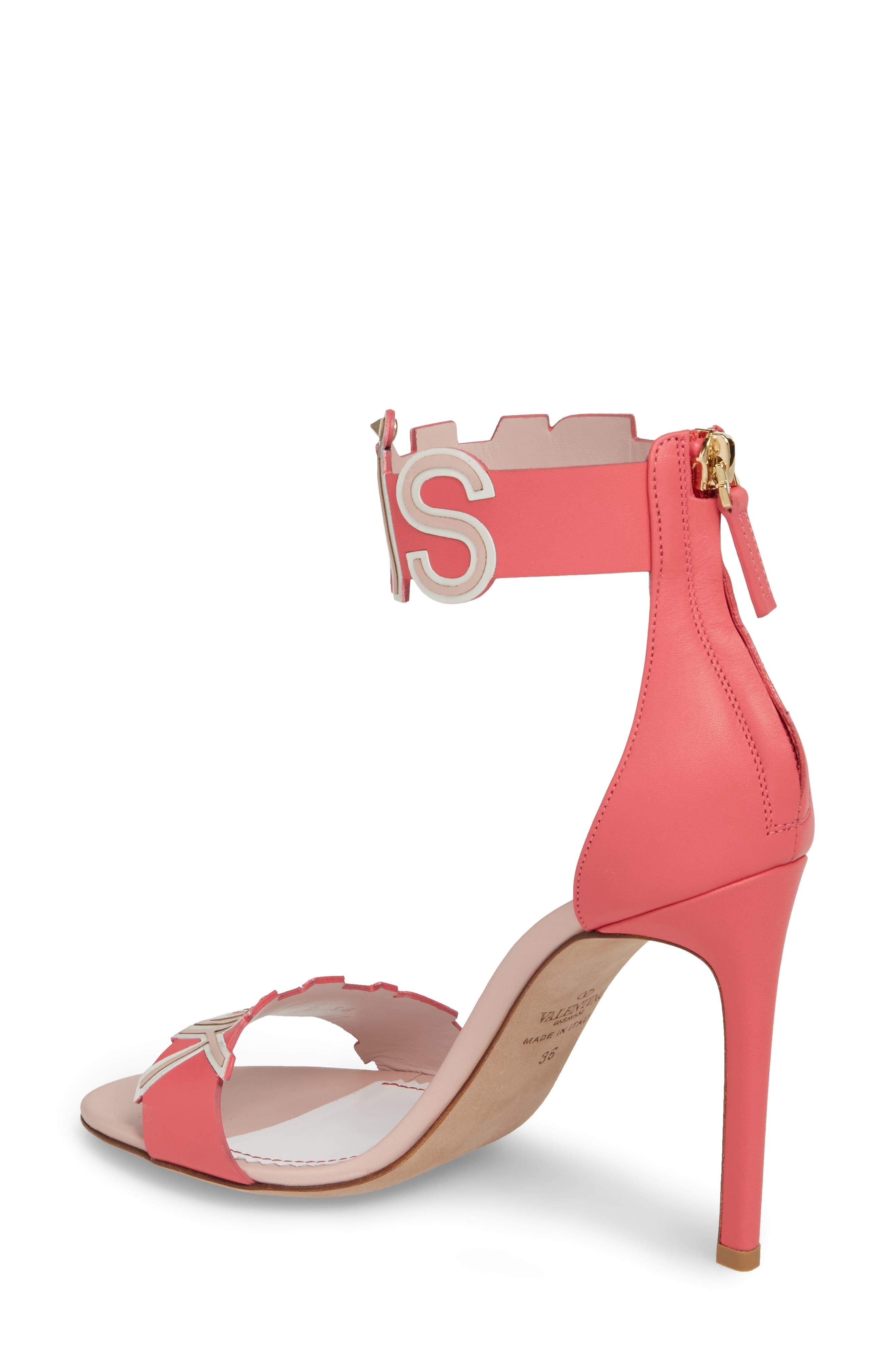 Pink Is Punk Ankle Strap Sandal,                             Alternate thumbnail 2, color,                             Shadow Pink