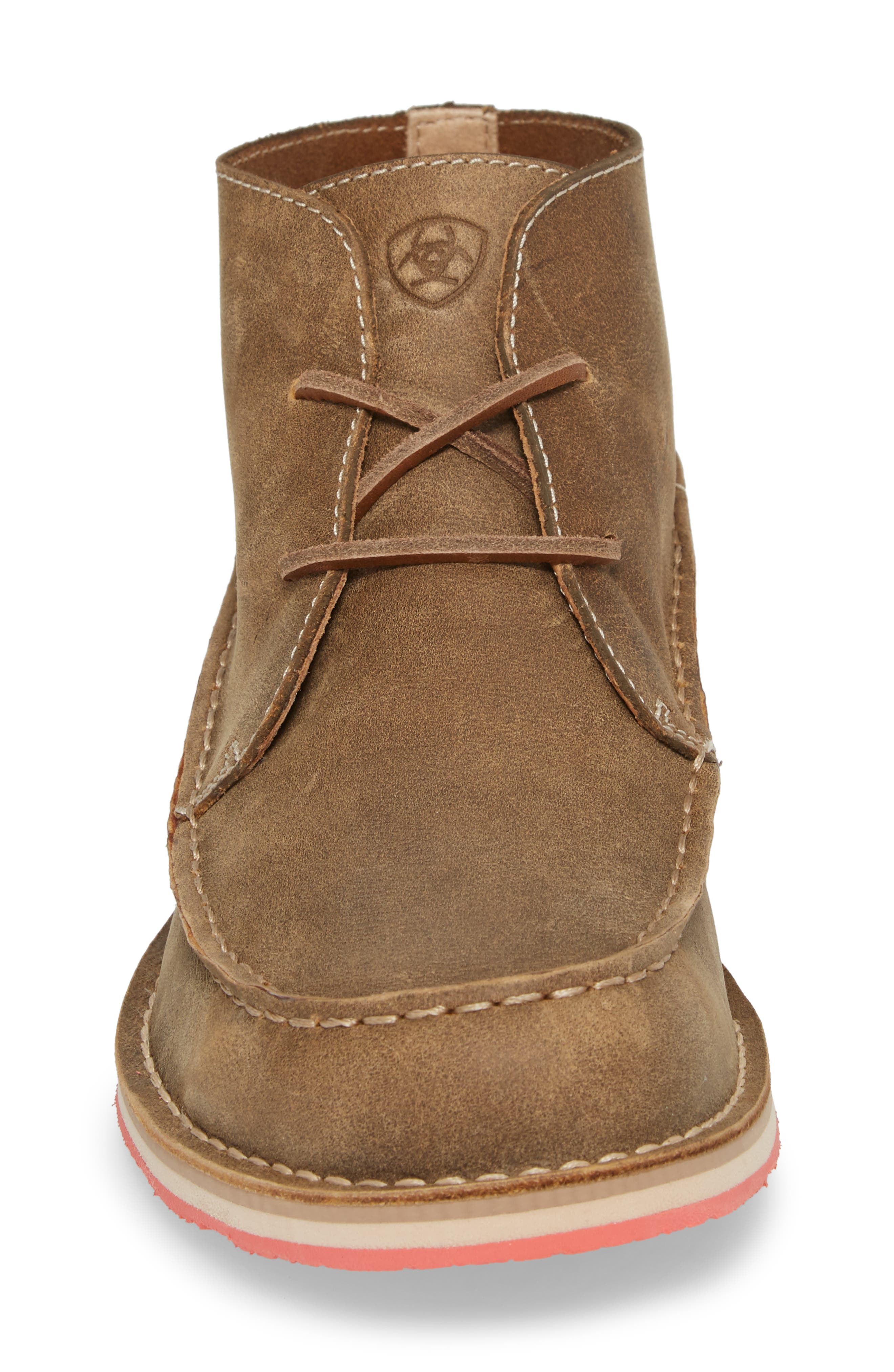 Cruiser Chukka Boot,                             Alternate thumbnail 4, color,                             Lace Brown Bomber Leather