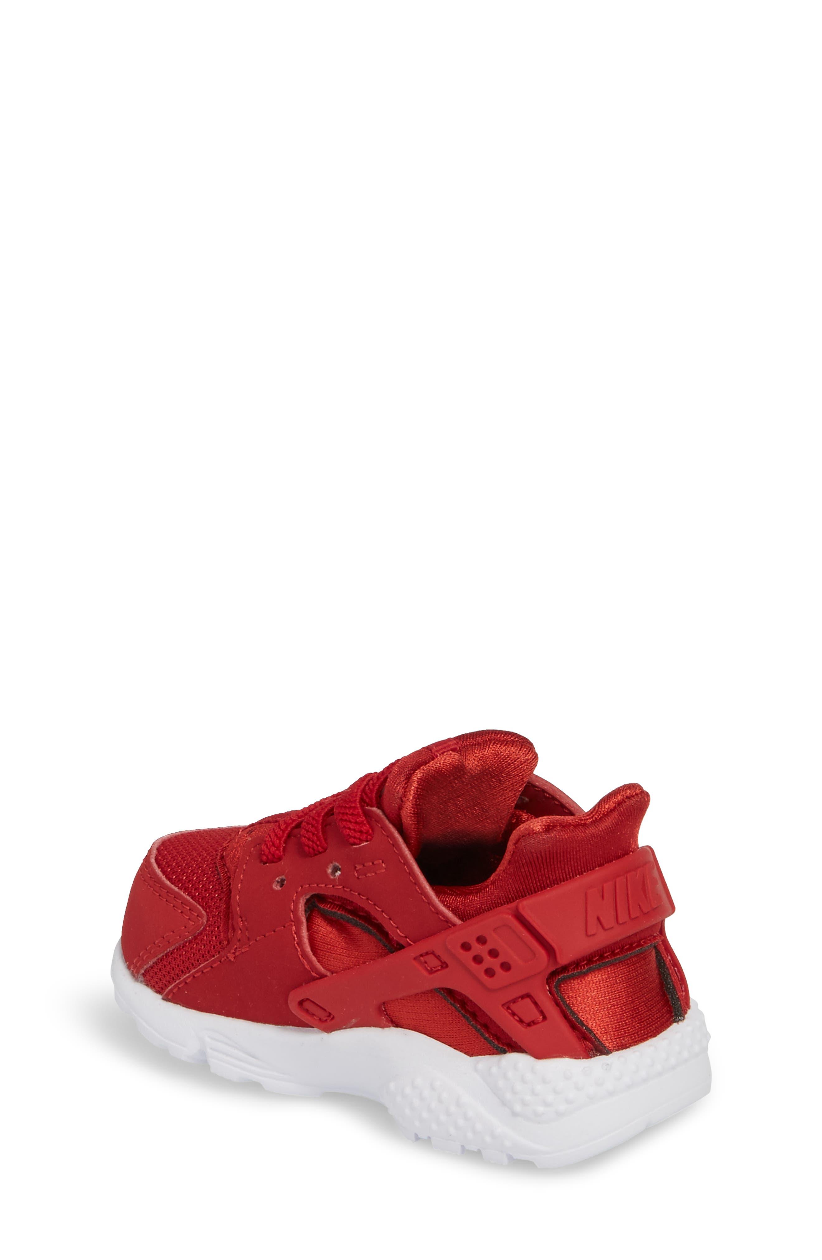 'Huarache Run' Sneaker,                             Alternate thumbnail 2, color,                             Gym Red/ Dark Grey/ White