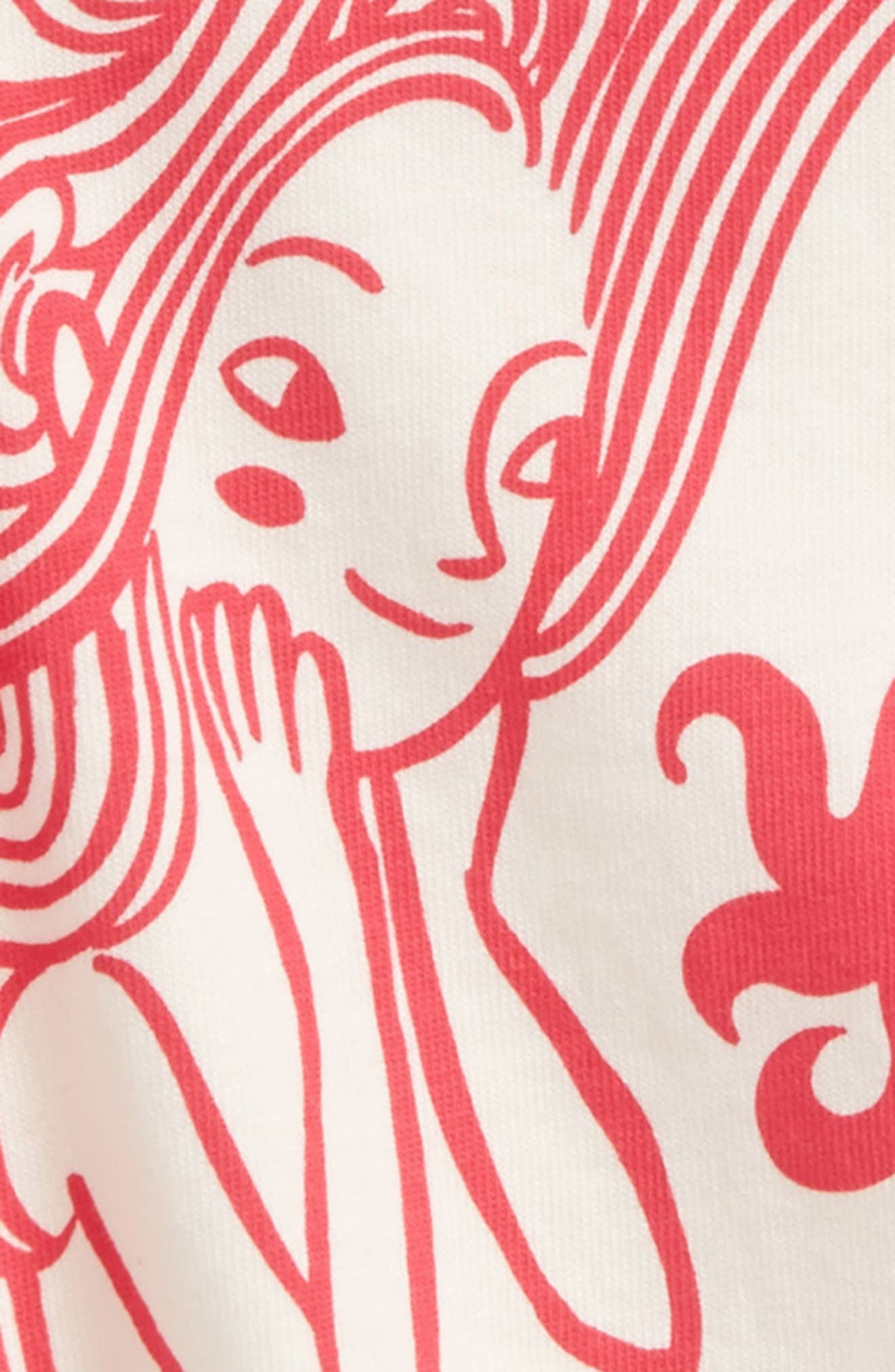Mermaid Graphic Tee,                             Alternate thumbnail 2, color,                             Chalk