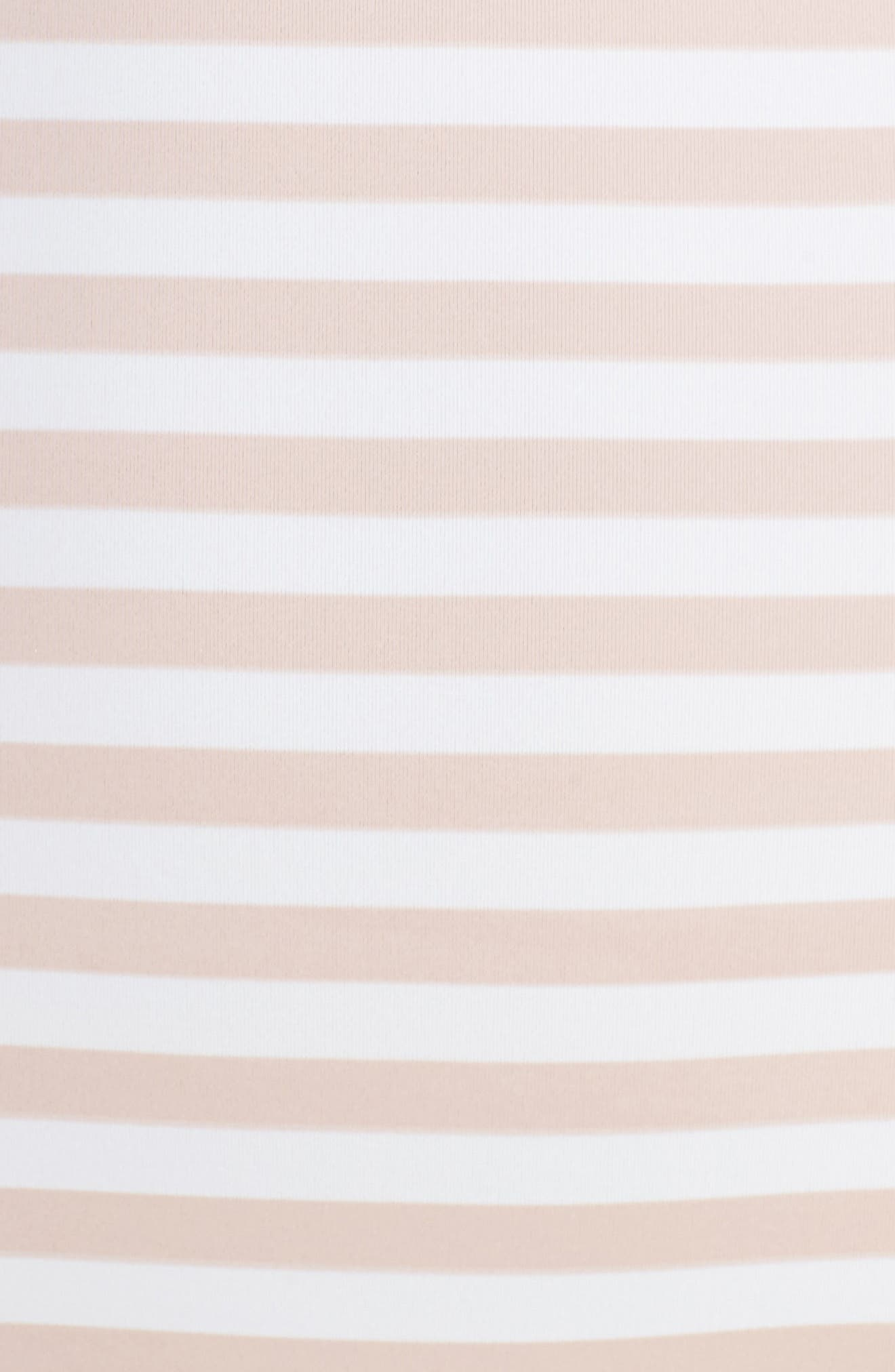 Ruffle One-Piece Swimsuit,                             Alternate thumbnail 5, color,                             Pink Dust Stripe