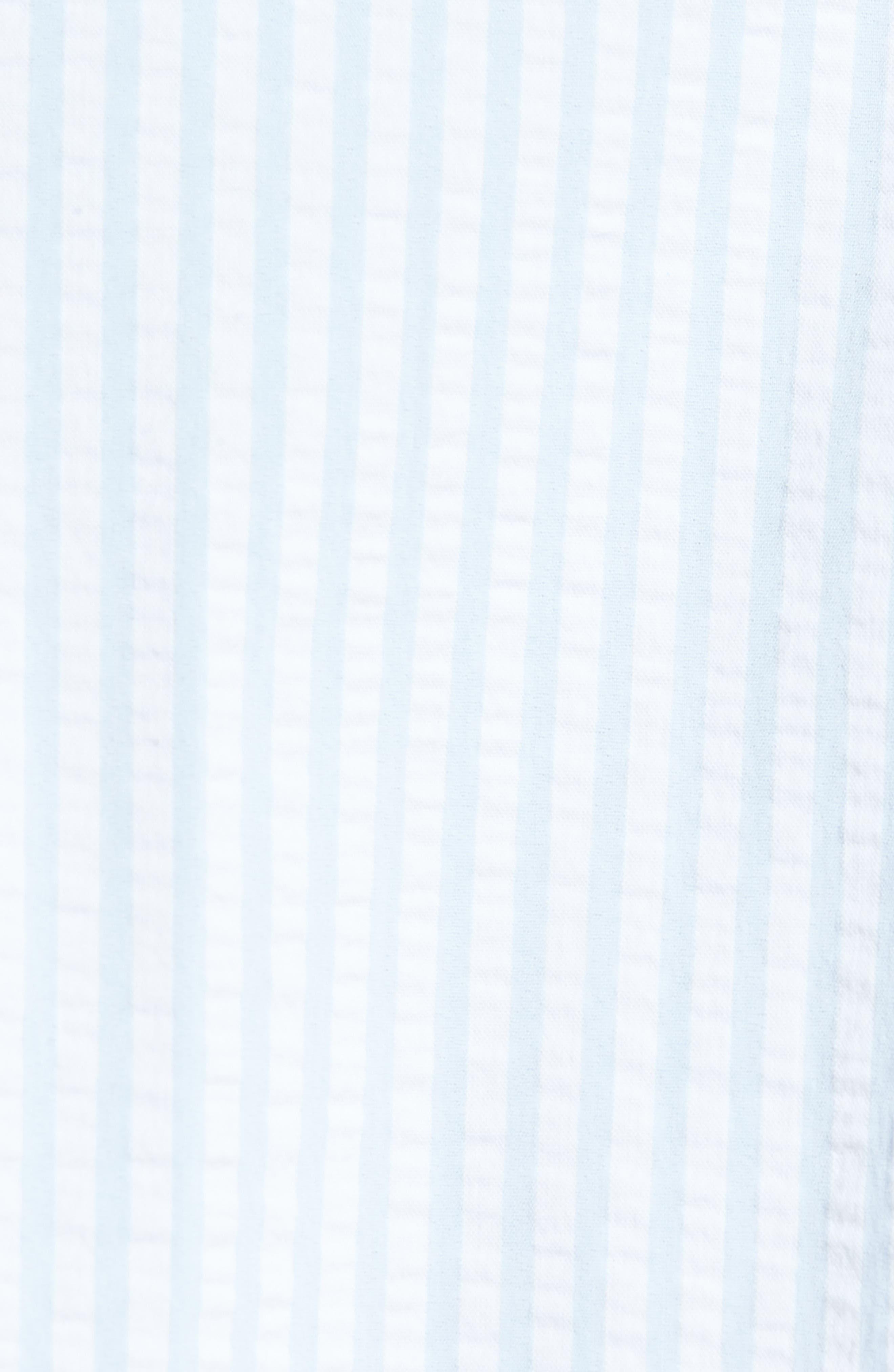 Hartley Seersucker Stripe Performance Sport Shirt,                             Alternate thumbnail 5, color,                             Blue