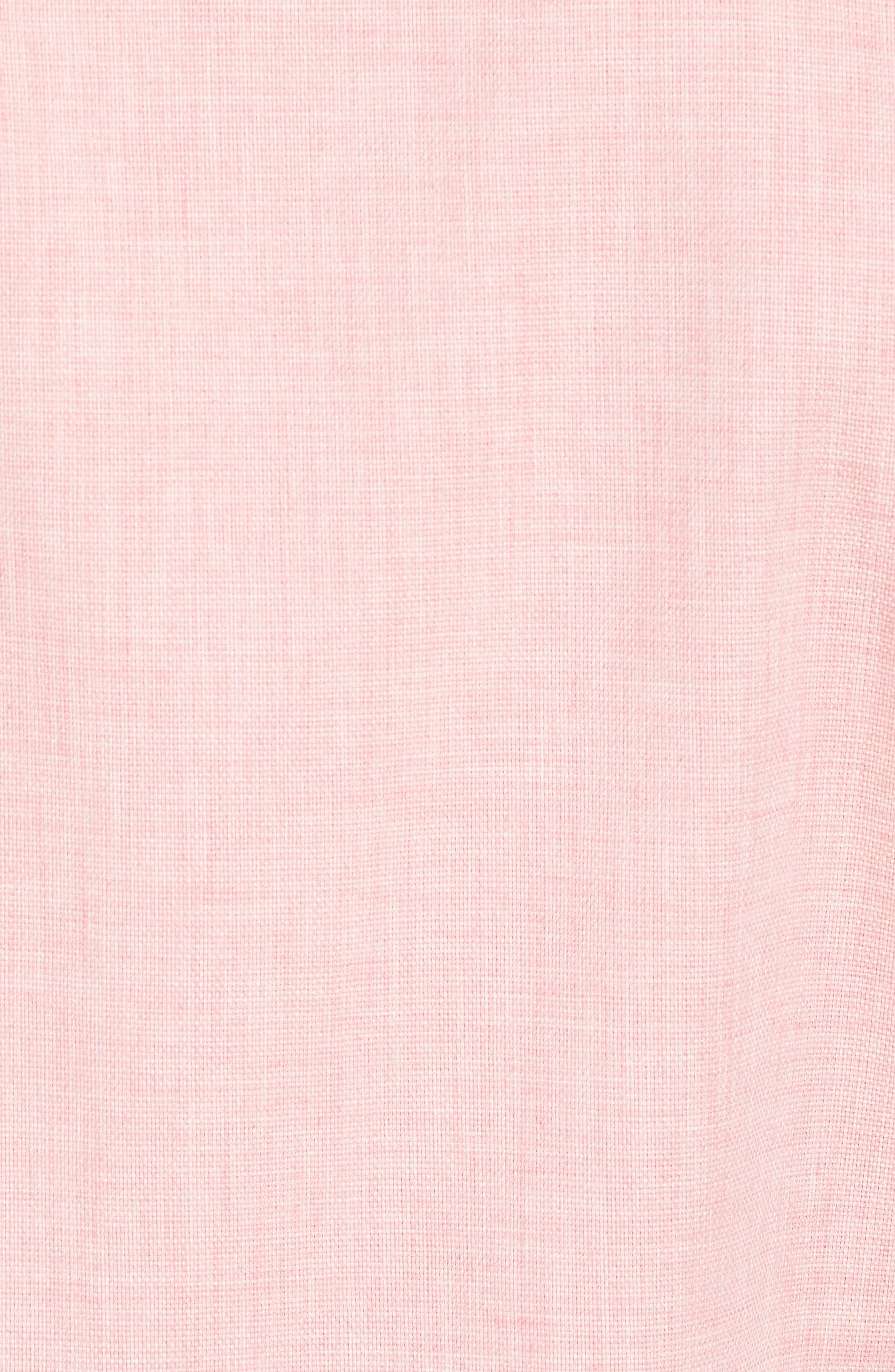 Regular Fit Garment Washed Mélange Sport Shirt,                             Alternate thumbnail 5, color,                             Pink