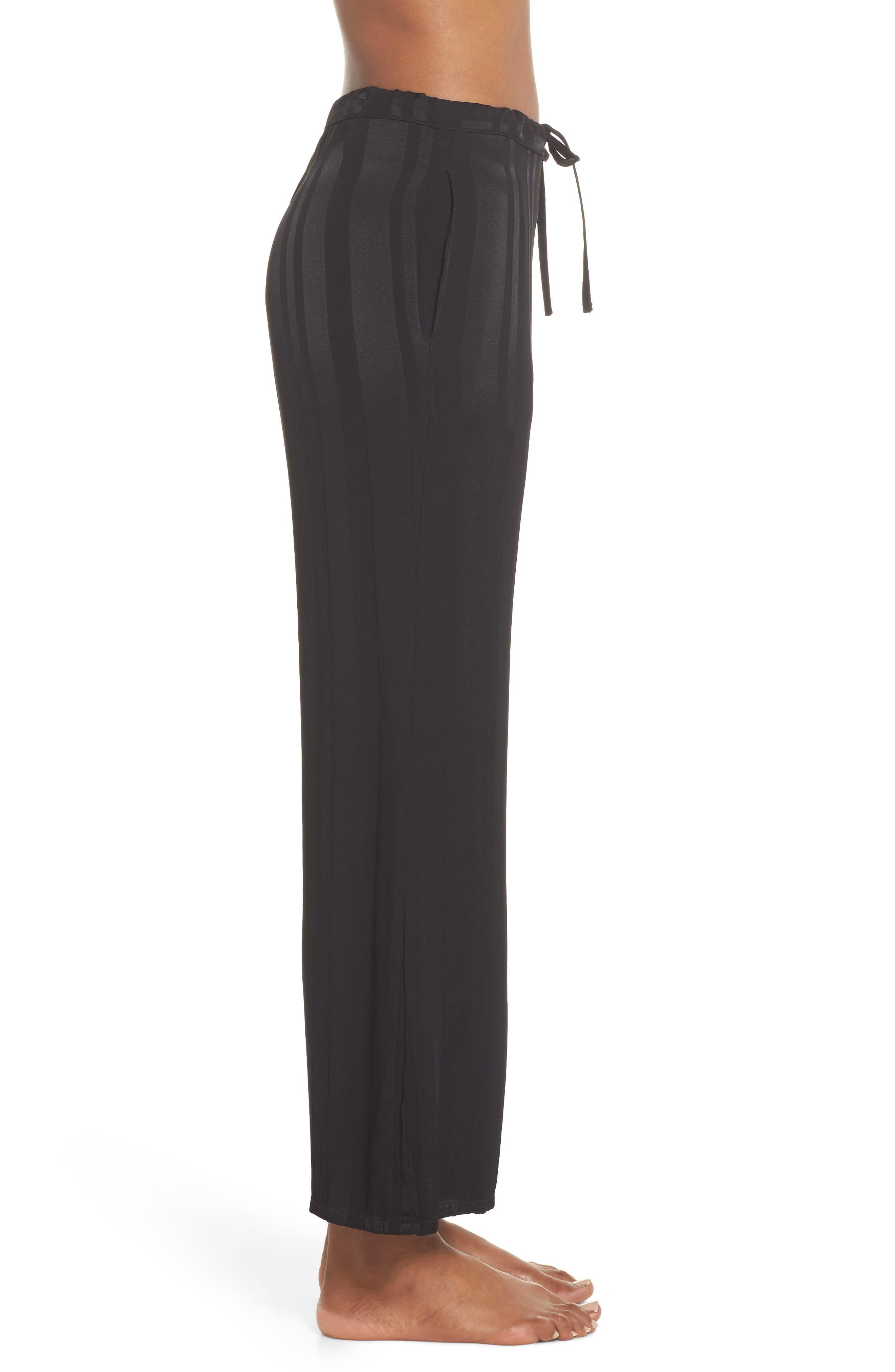 Vela Stripe Lounge Pants,                             Alternate thumbnail 3, color,                             Tar