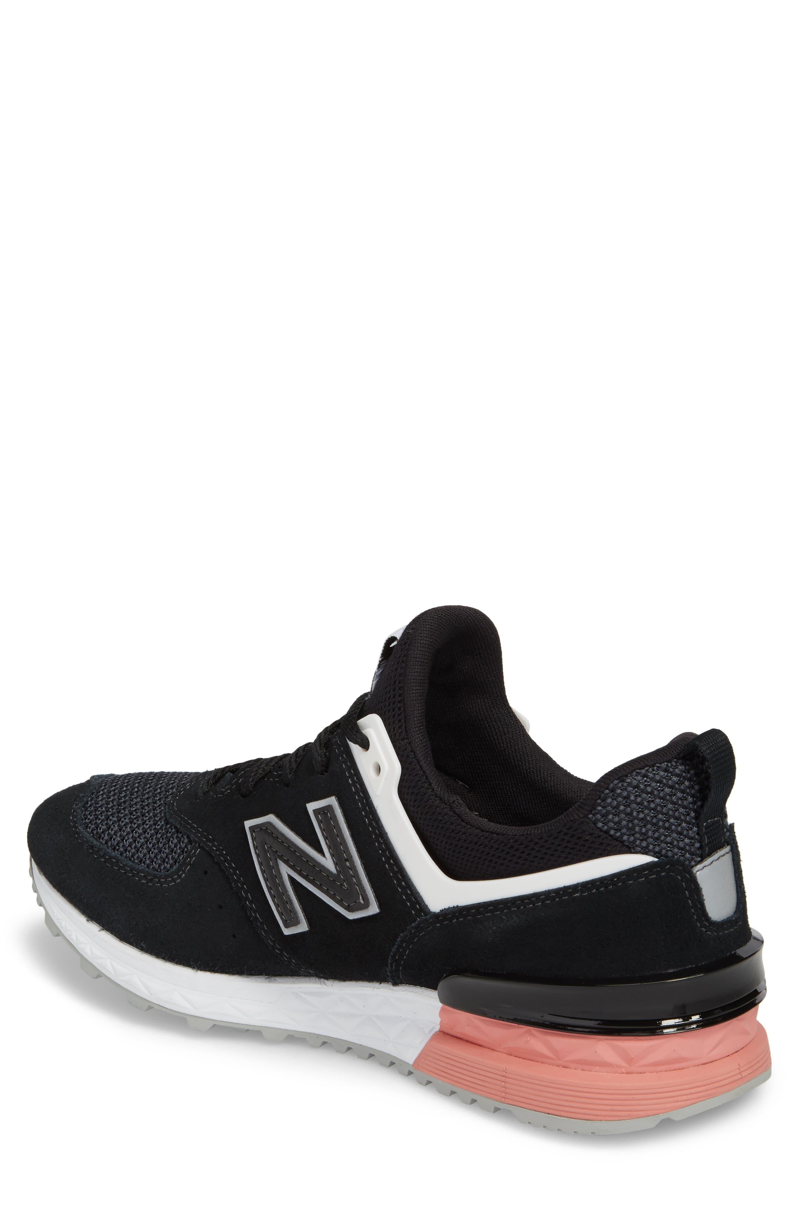 574 T3 Sport Sneaker,                             Alternate thumbnail 2, color,                             Black