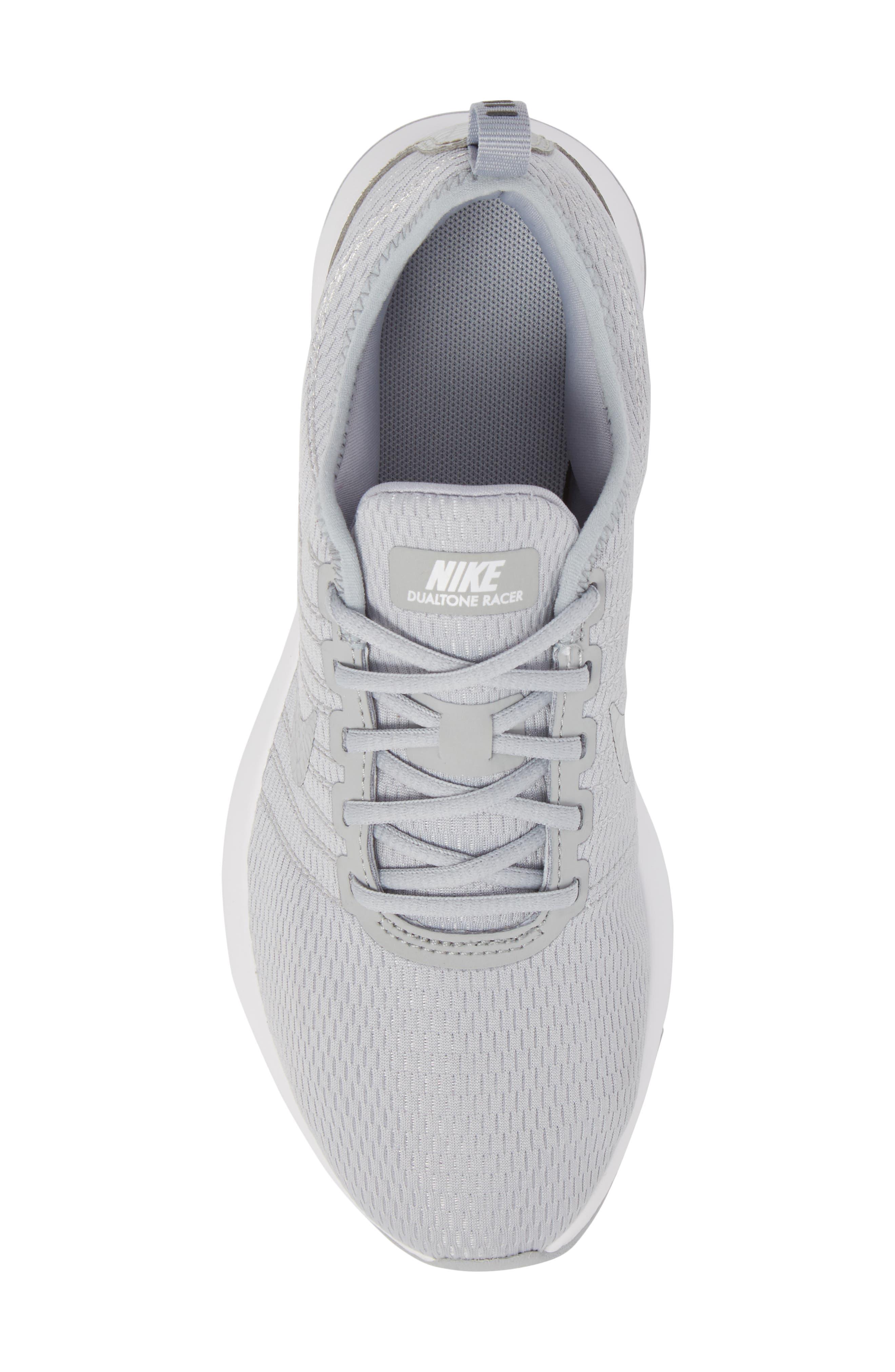 Dualtone Racer GS Sneaker,                             Alternate thumbnail 5, color,                             Wolf Grey/ Metallic Silver