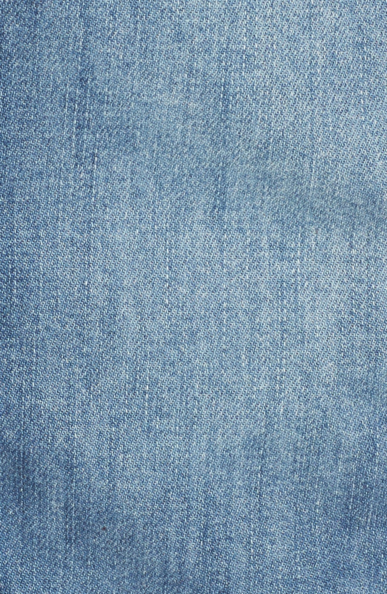 Long Denim Shirt Jacket,                             Alternate thumbnail 6, color,                             Sutter Wash