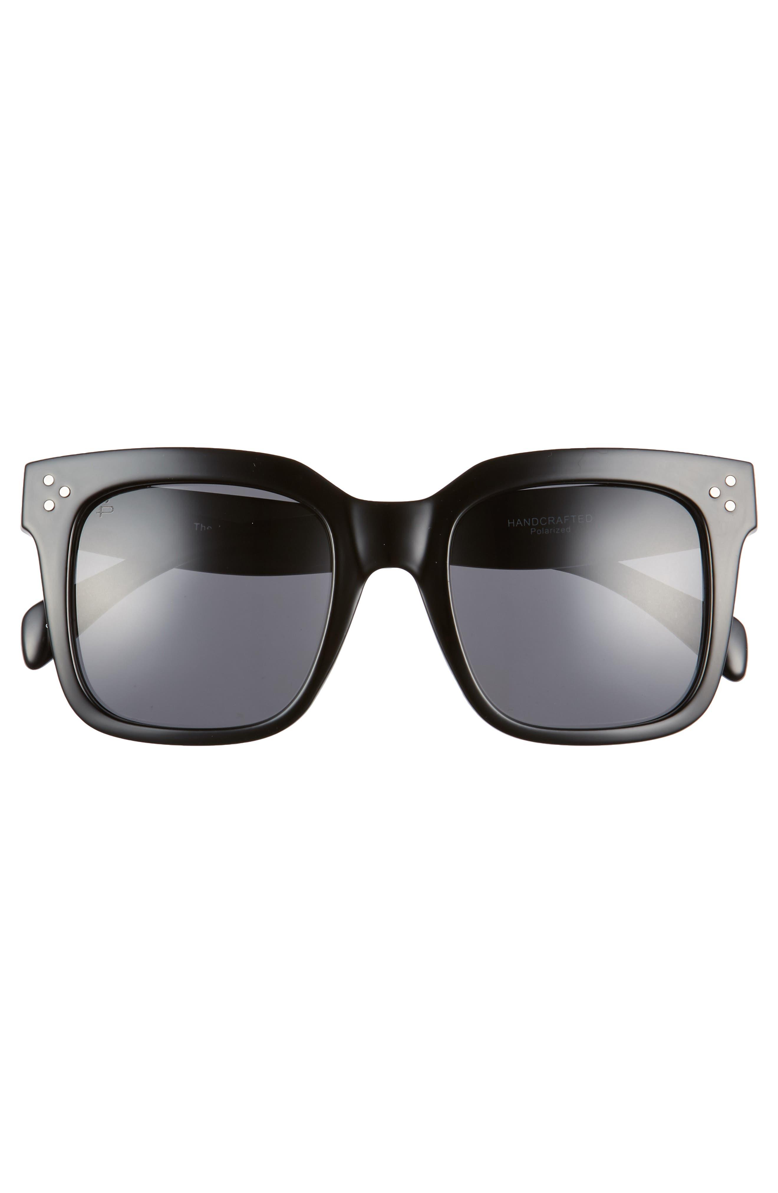 Privé Revaux The Heroine 53mm Sunglasses,                             Alternate thumbnail 3, color,                             Black